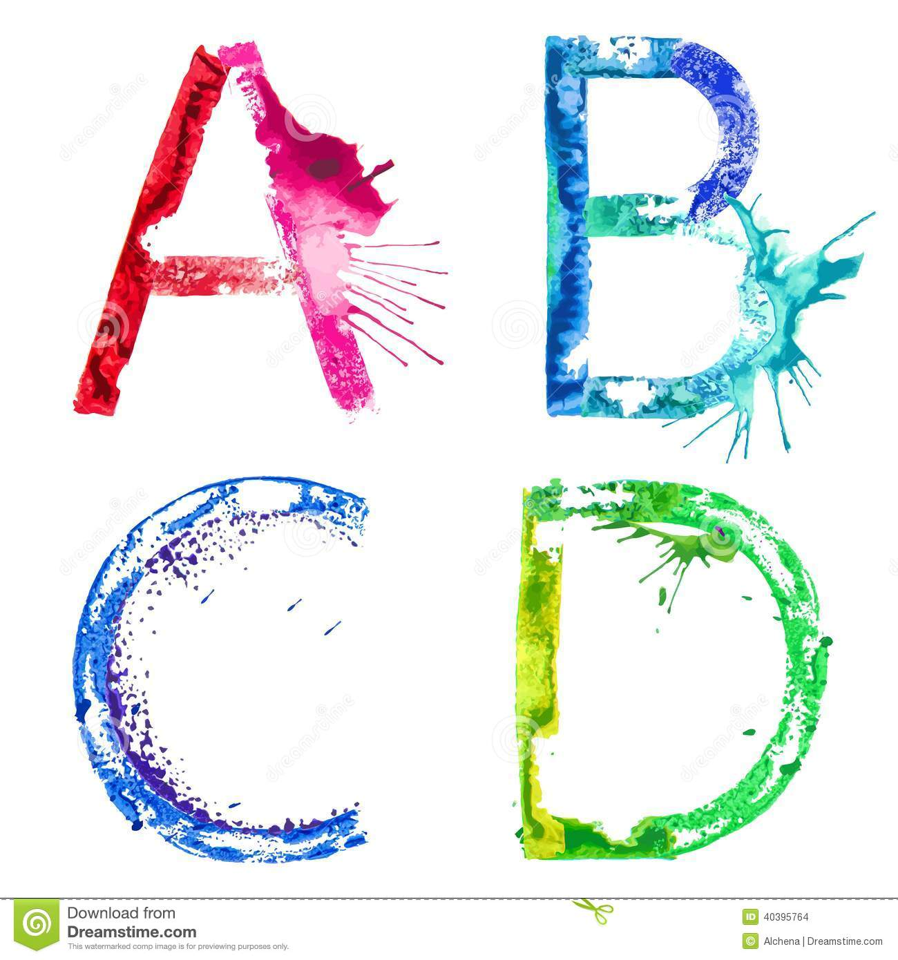 Splash Letters Stock Image - Image: 15614061