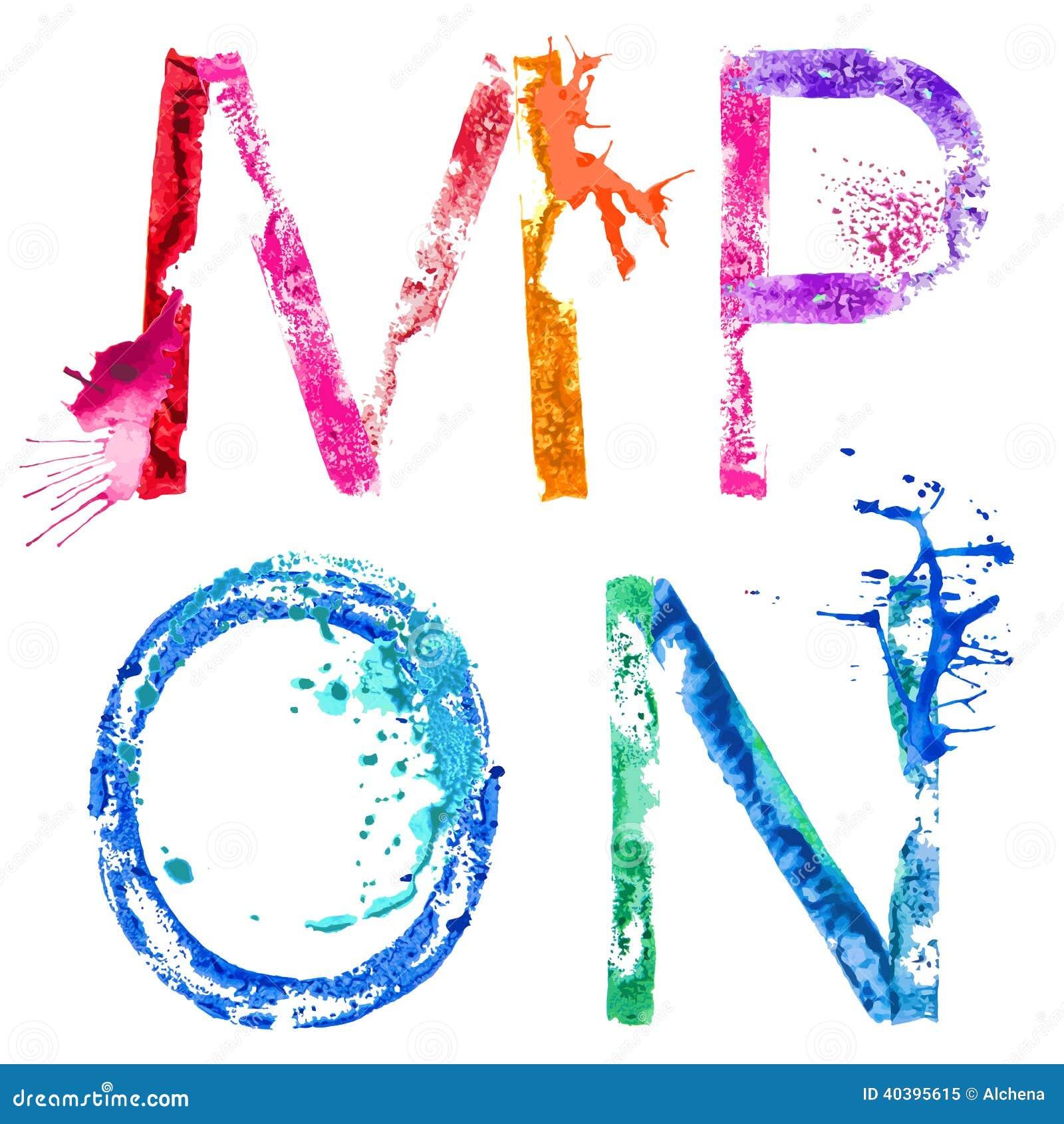 Vector Paint Splash Font E,F,G,H Stock Vector - Image: 40395719