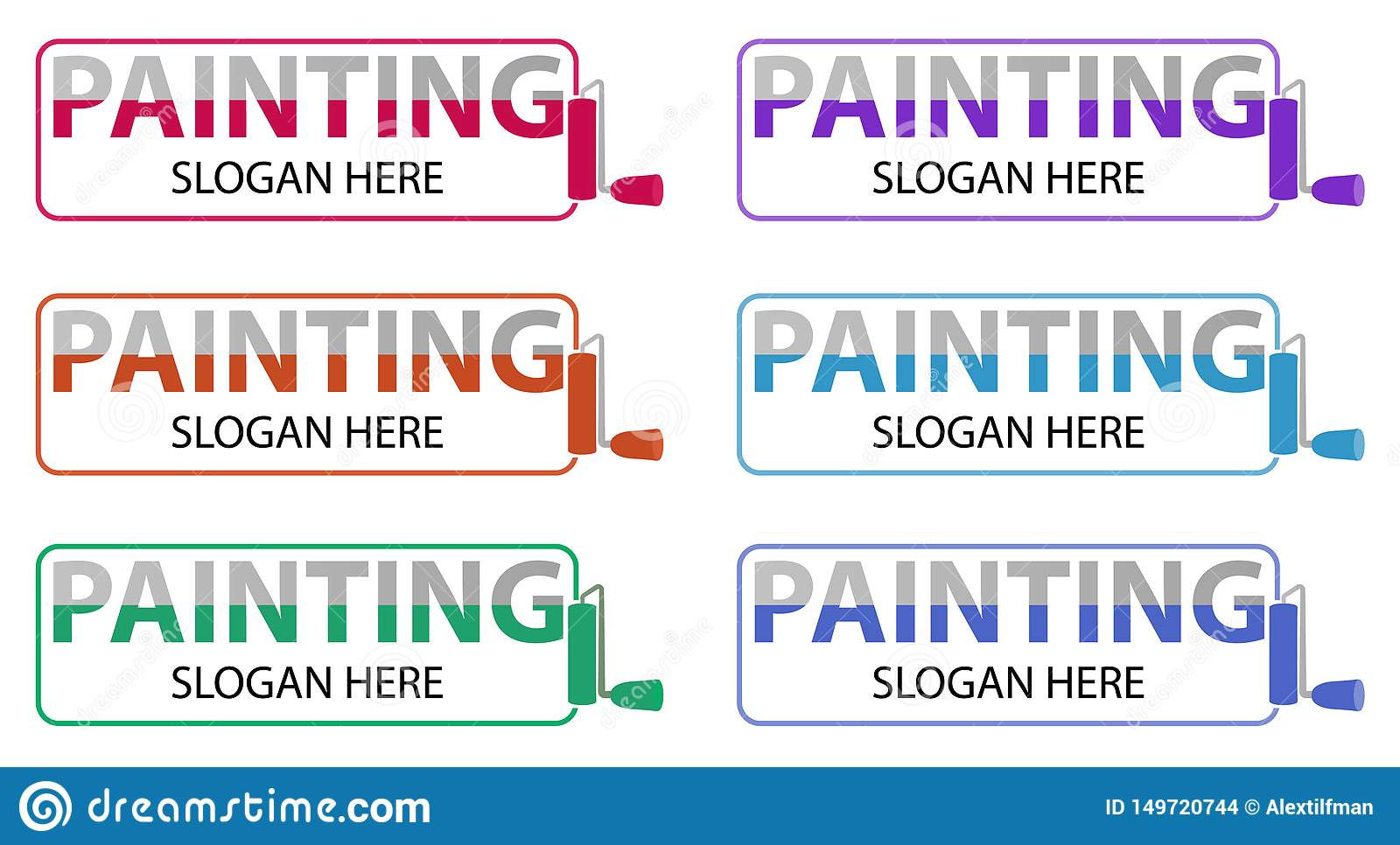 Vector Painting Business Logo Logotype Design Related To