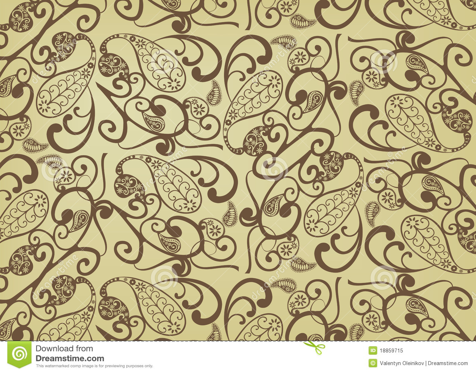 vector paisley pattern royalty free stock photo