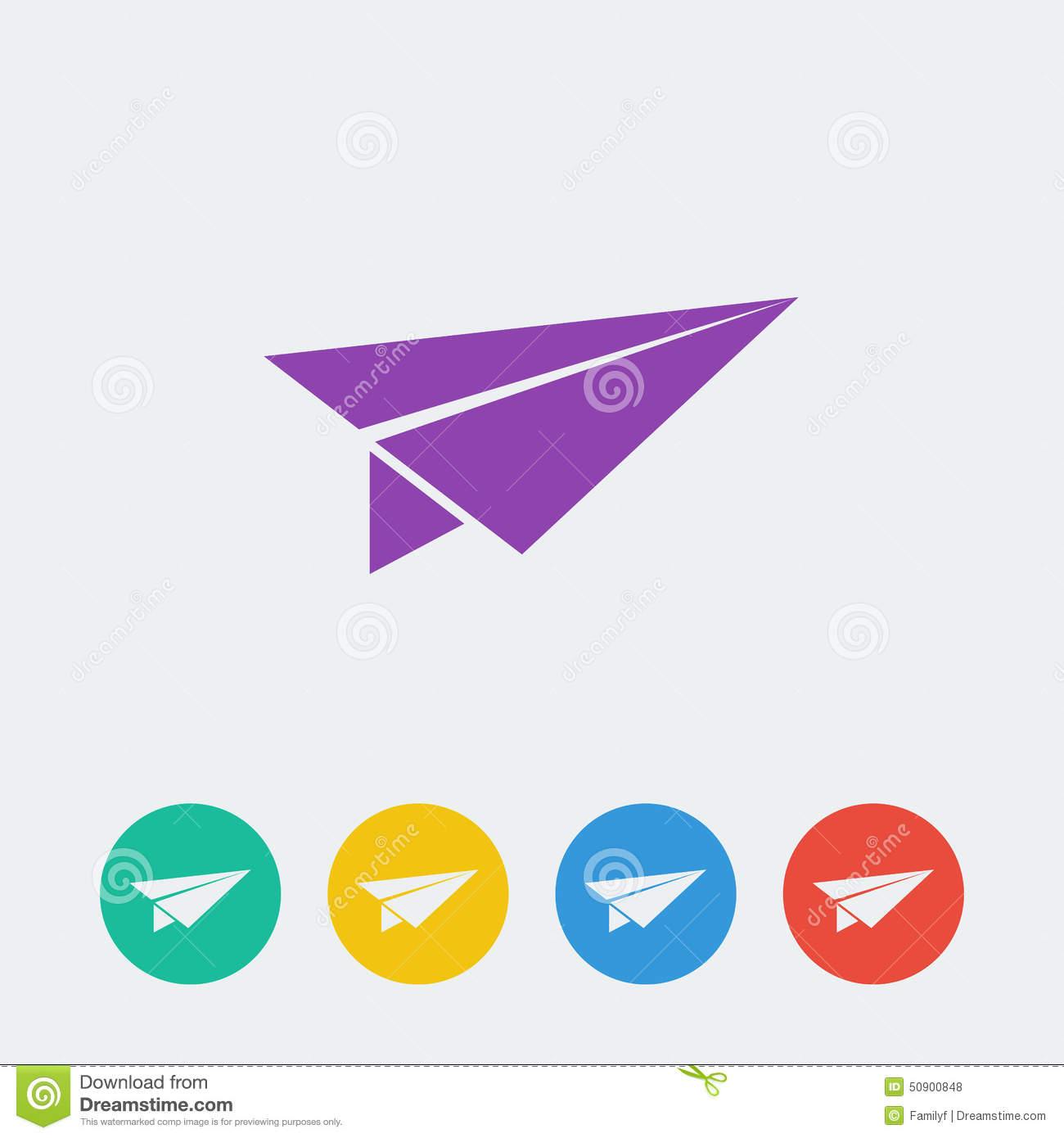 Icon Paper Airplane Vector Illustration | CartoonDealer ...