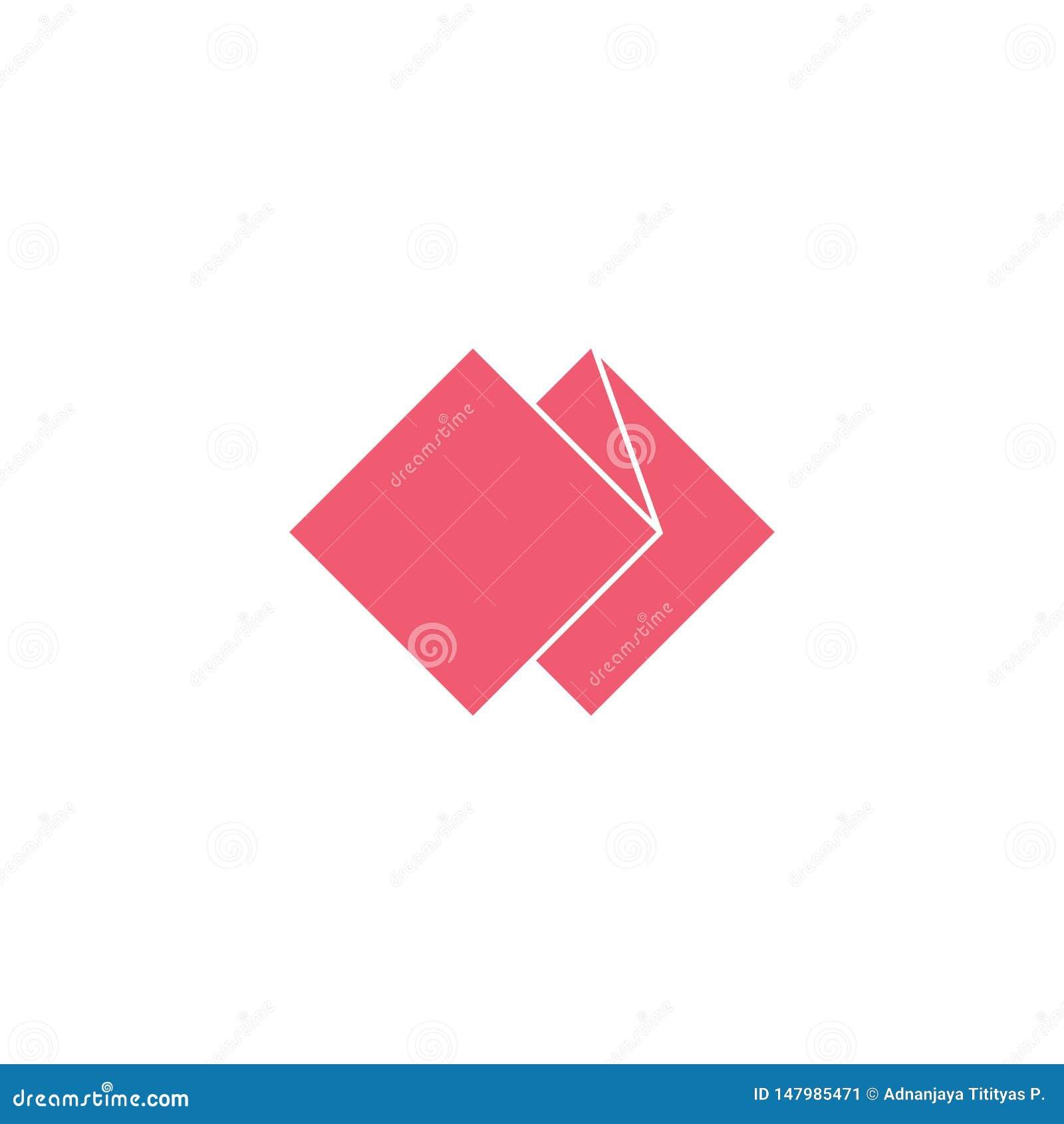 Vector of paper fold geometric simple logo