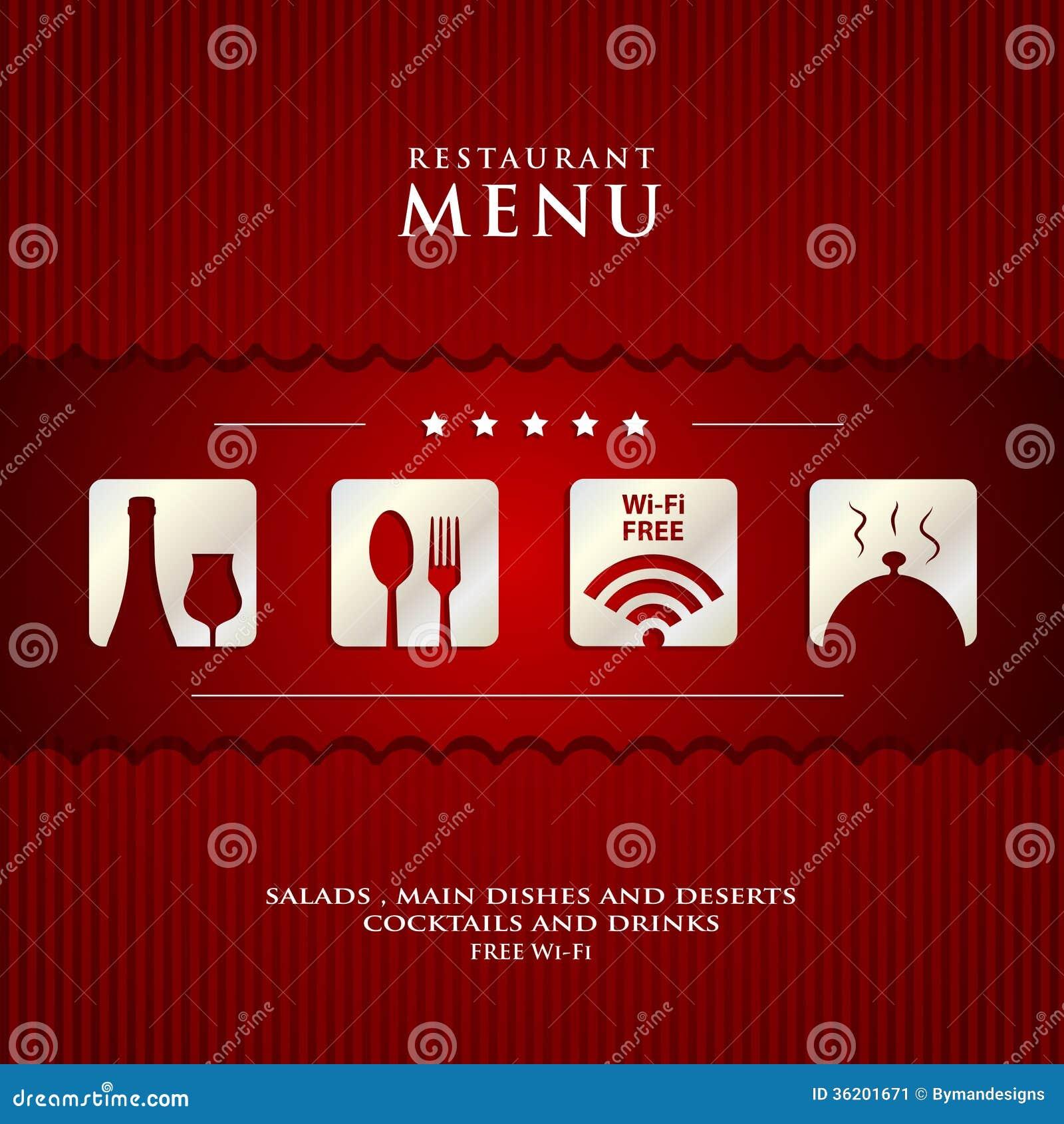Vector paper restaurant menu design stock