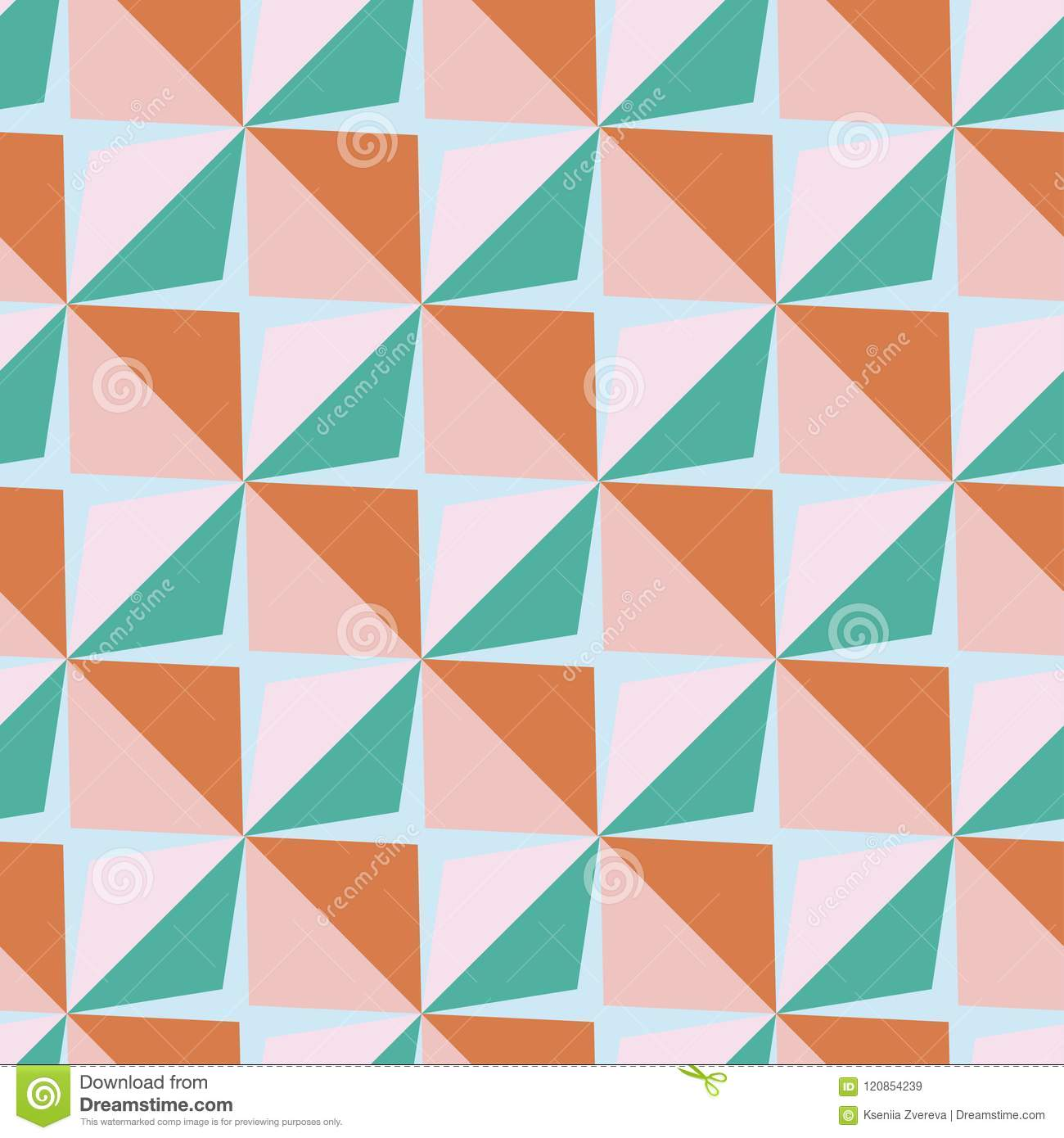 Vector Papper Stickers Cut-out Tile Baby Seamless Pattern Stock ...