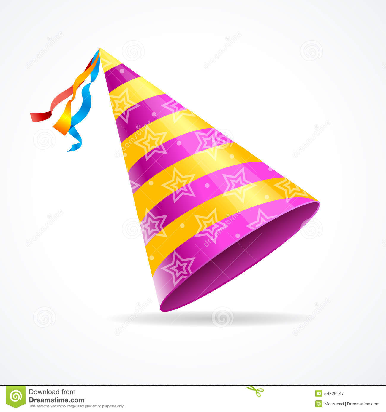 Vector party hat isolated on a white background. the symbol of the ...