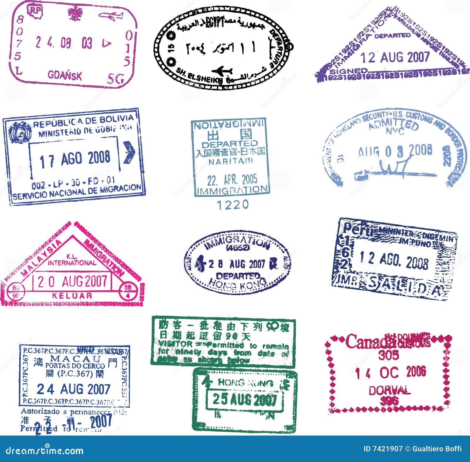 Vector passport stamp