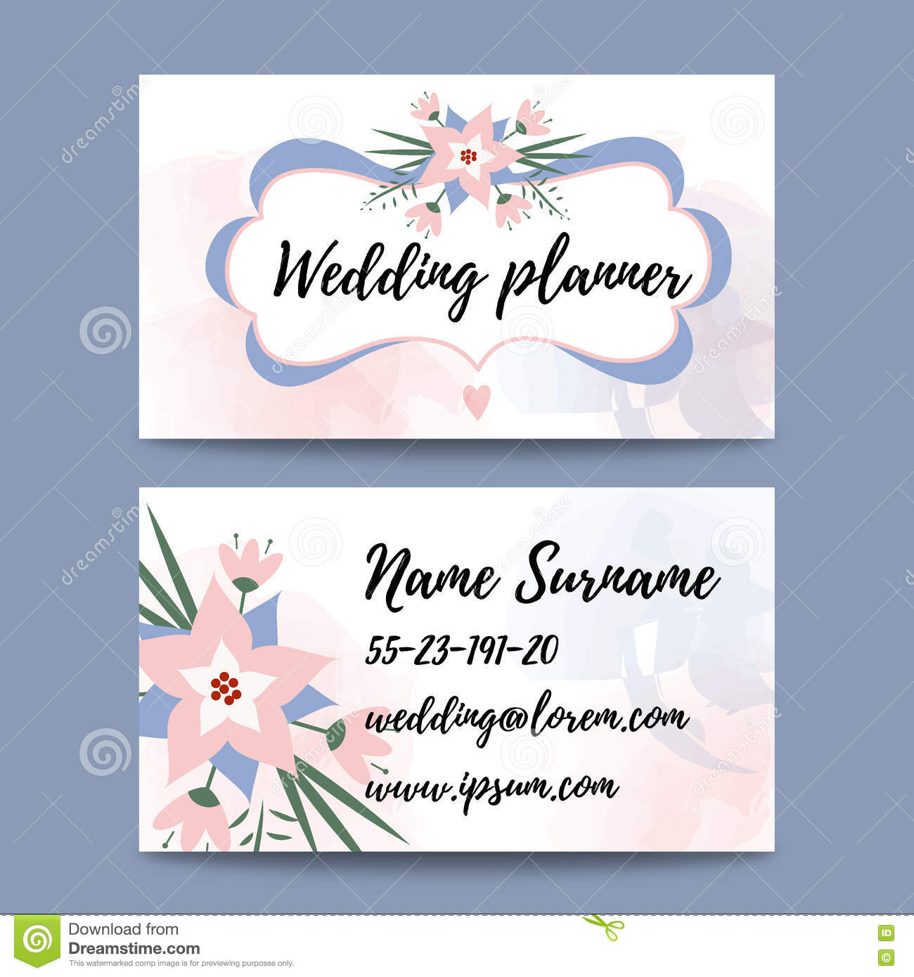 Vector pastel feminine business card template mockup with logo download vector pastel feminine business card template mockup with logo flower suitable for wedding planners fbccfo Choice Image
