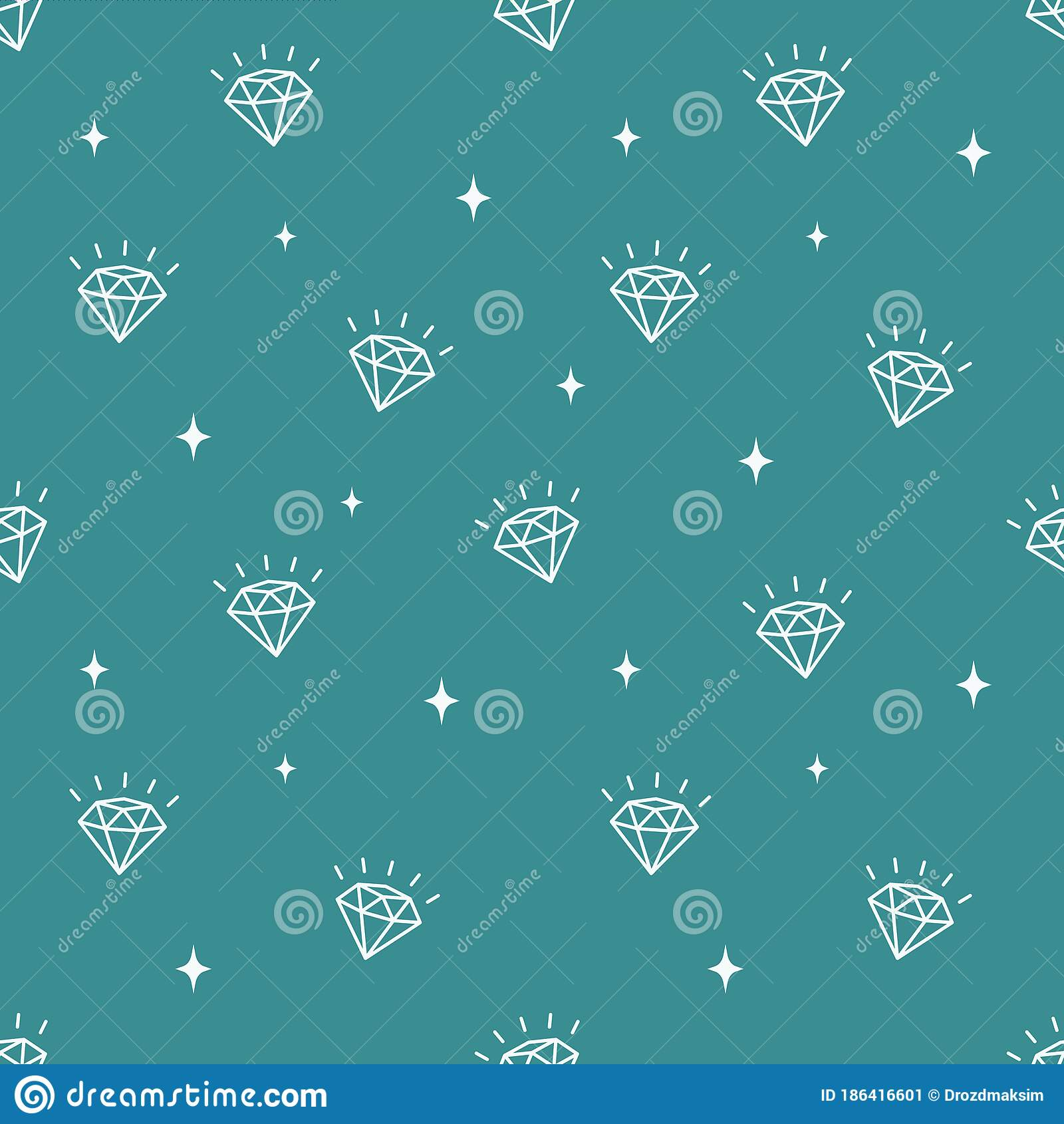 Vector Pattern With Diamonds. Seamless Pattern Can Be Used For Wallpaper, Pattern Fills, Surface ...
