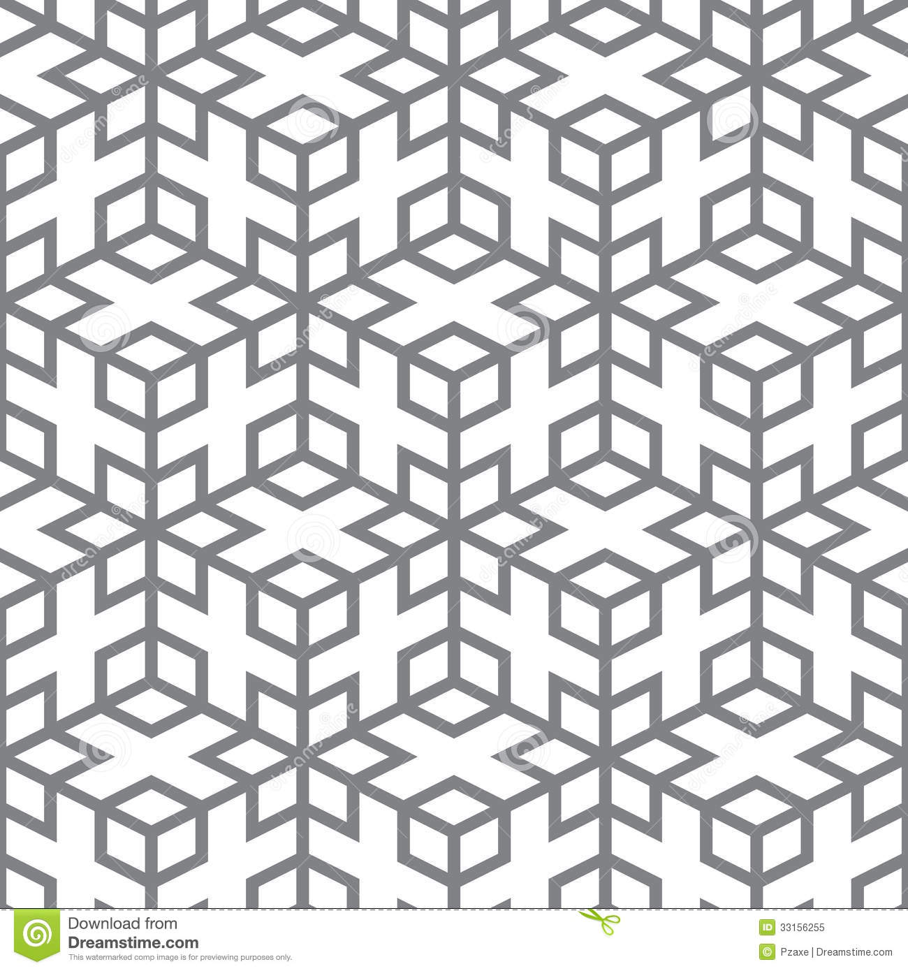 Geometric Line Design Patterns : Vector pattern geometric design from gray lines stock