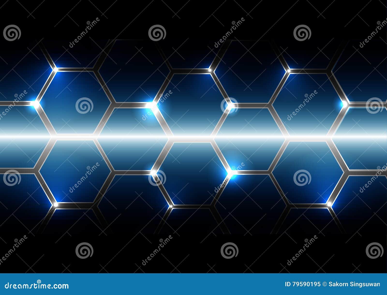 vector pattern hexagon with light background hexagon shape stock