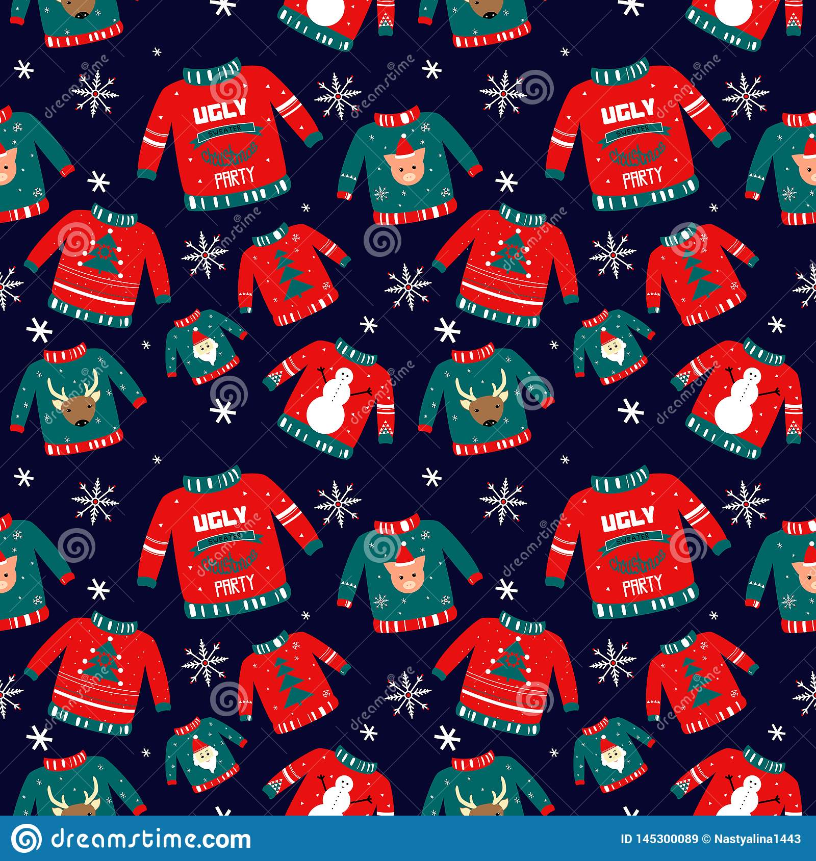 Ugly Christmas Sweaters 2020 To Draw Vector Pattern For Holiday Events As Ugly Christmas Sweater Party