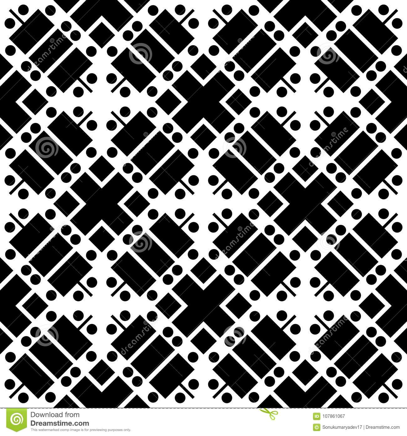 Black And White Leser Cut Repeted Pattern Design Stock