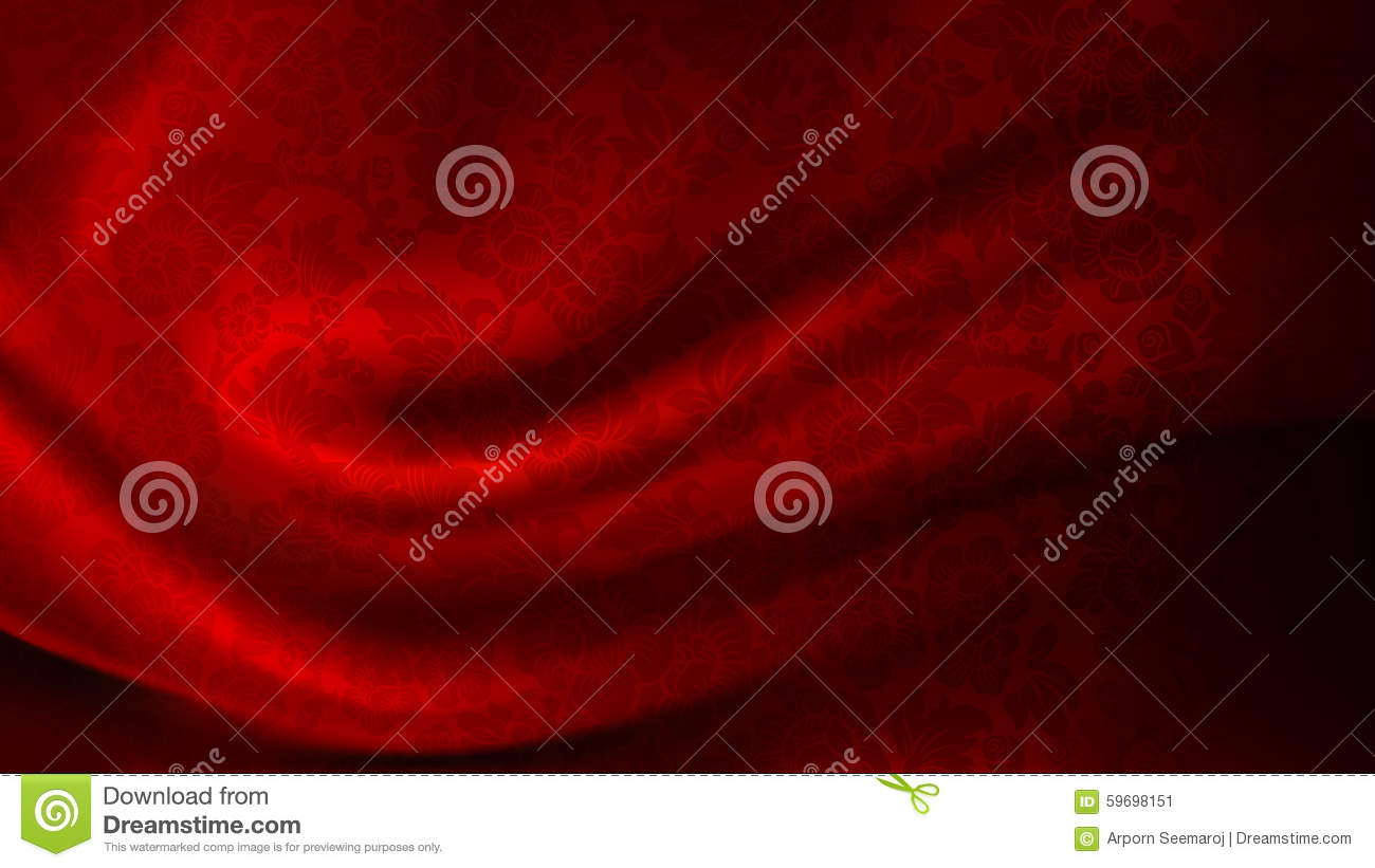 Vector of Patterned Red Silk Fabric Background
