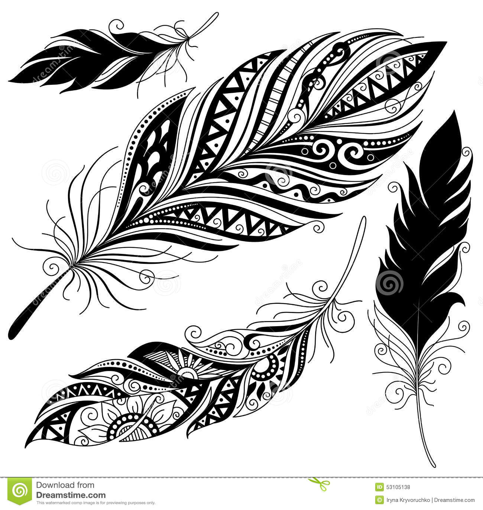 Vector Peerless Decorative Feather Stock Vector