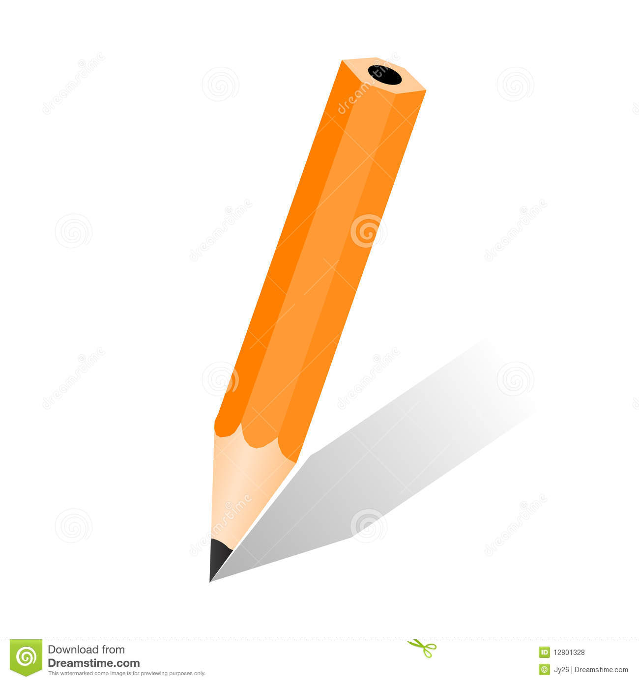 Vector Pencil Icon Royalty Free Stock Photos - Image: 12801328