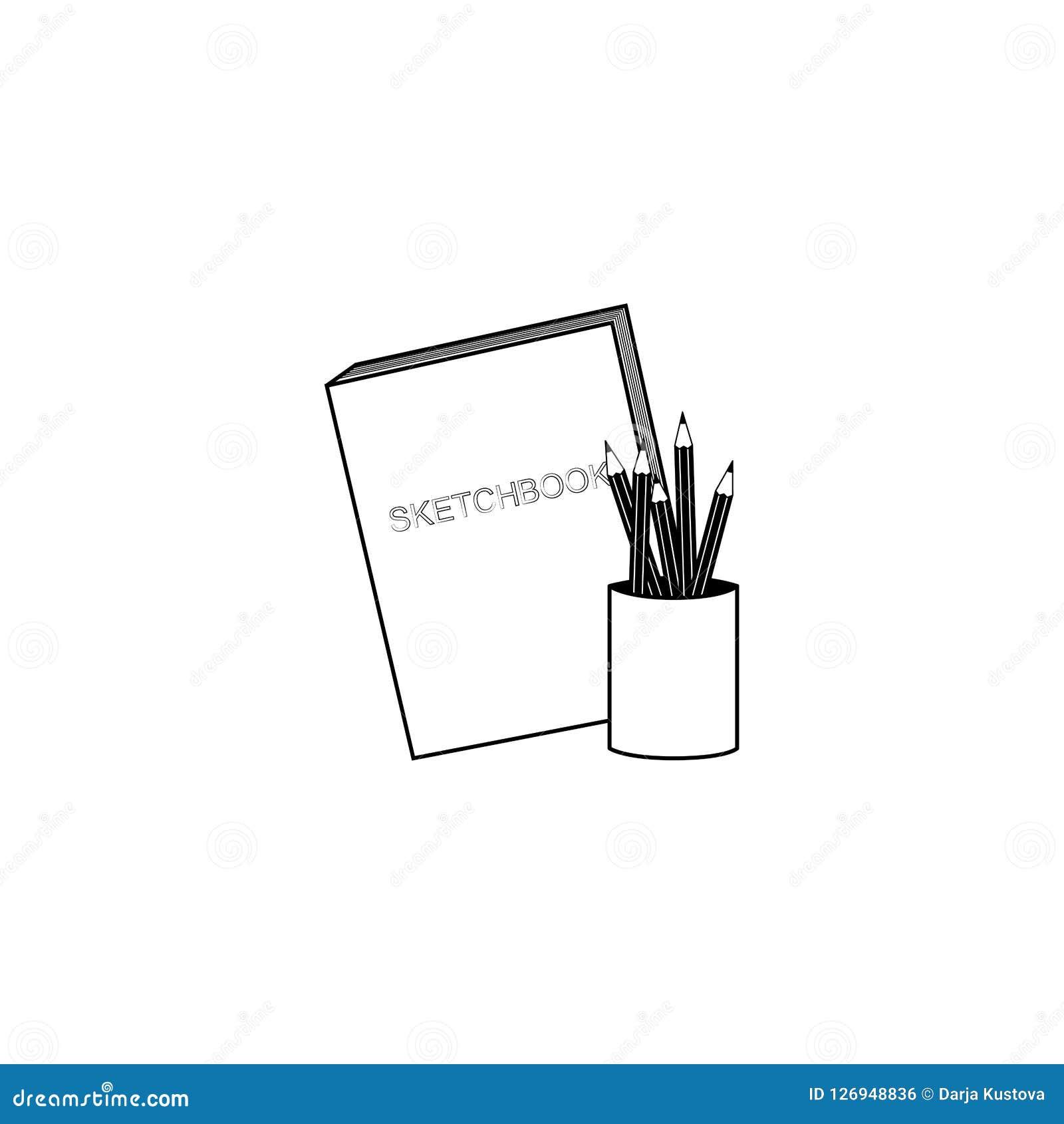 Vector pencil and sketch book stock vector illustration