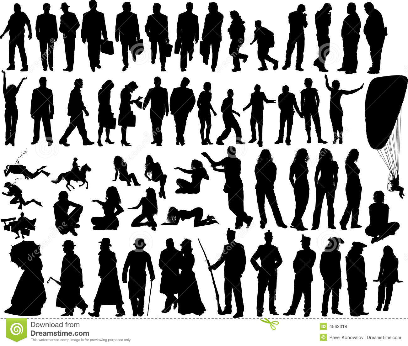 Royalty Free Stock Photos Vector People Image4563318
