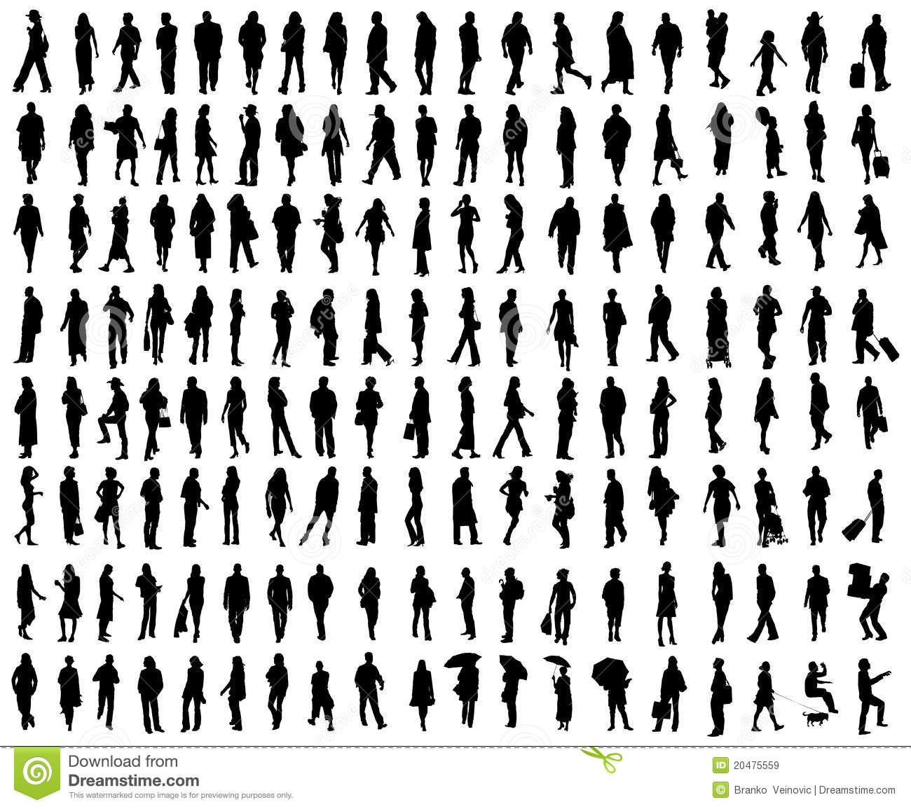 Royalty Free Stock Images: Vector people silhouettes . Image: 20475559