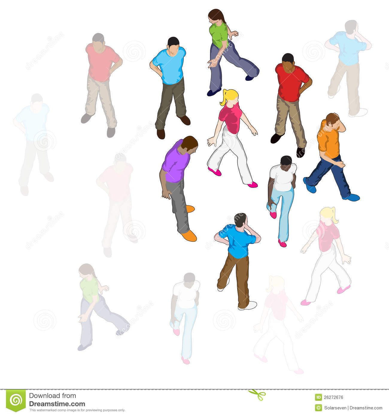 Vector People Walking Royalty Free Stock Image - Image ...