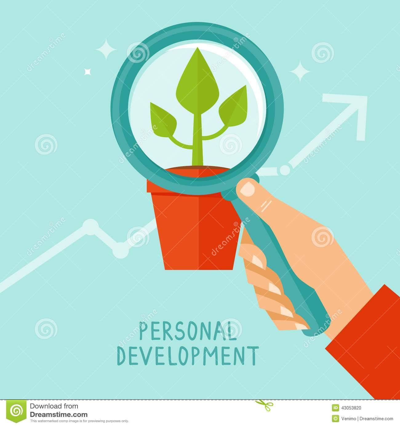 Vector Personal Development Concept In Flat Style Stock ...  Vector Personal...
