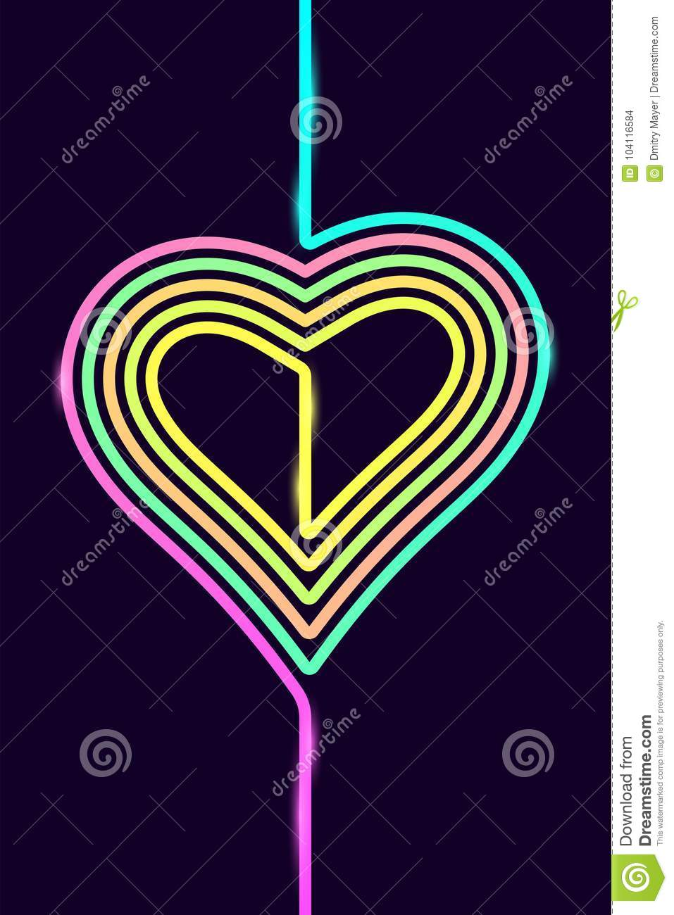 Vector Phone Background with Colorful Heart