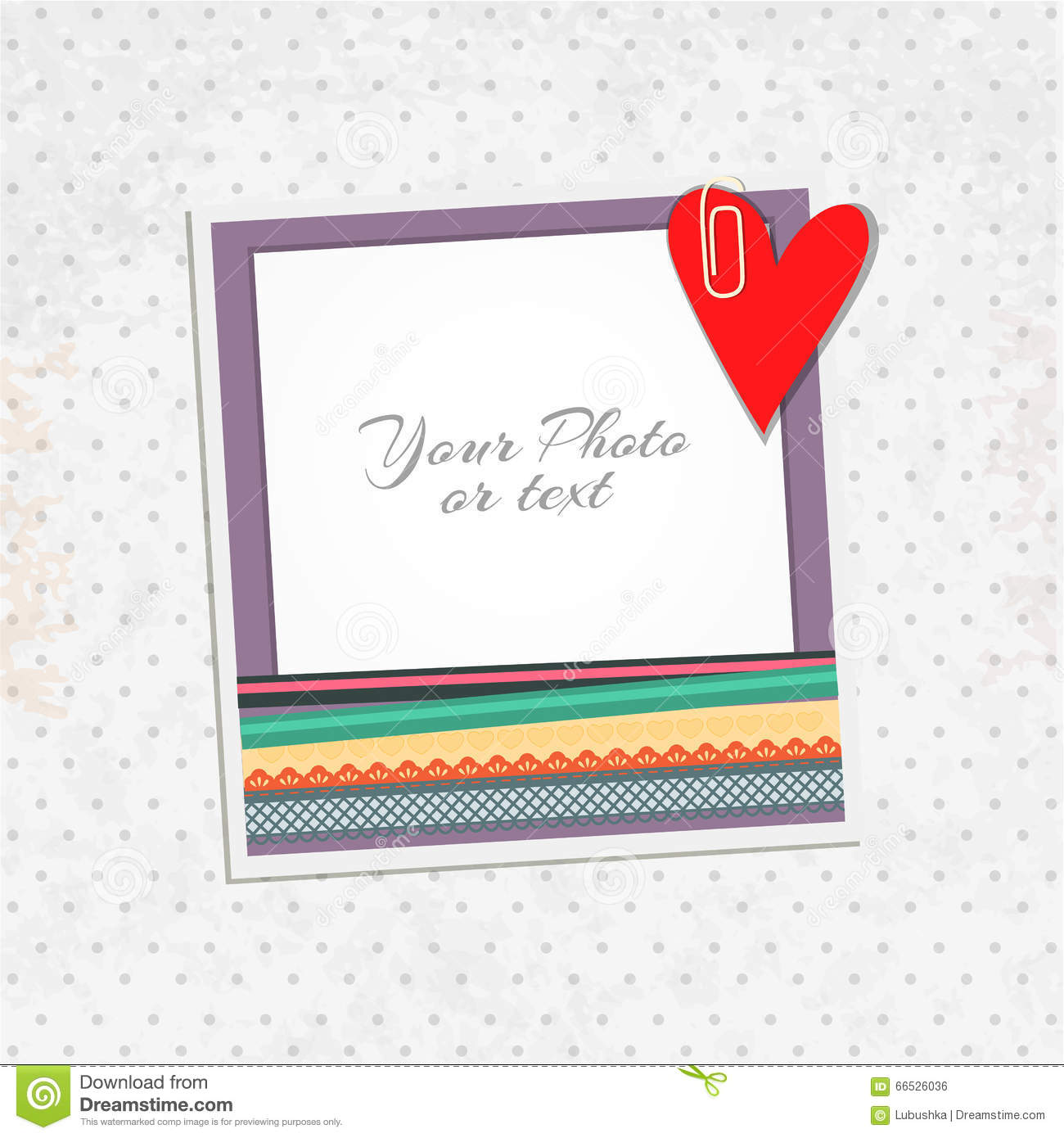 fcad2174f312 Vector photo frame stock vector. Illustration of abstract - 66526036
