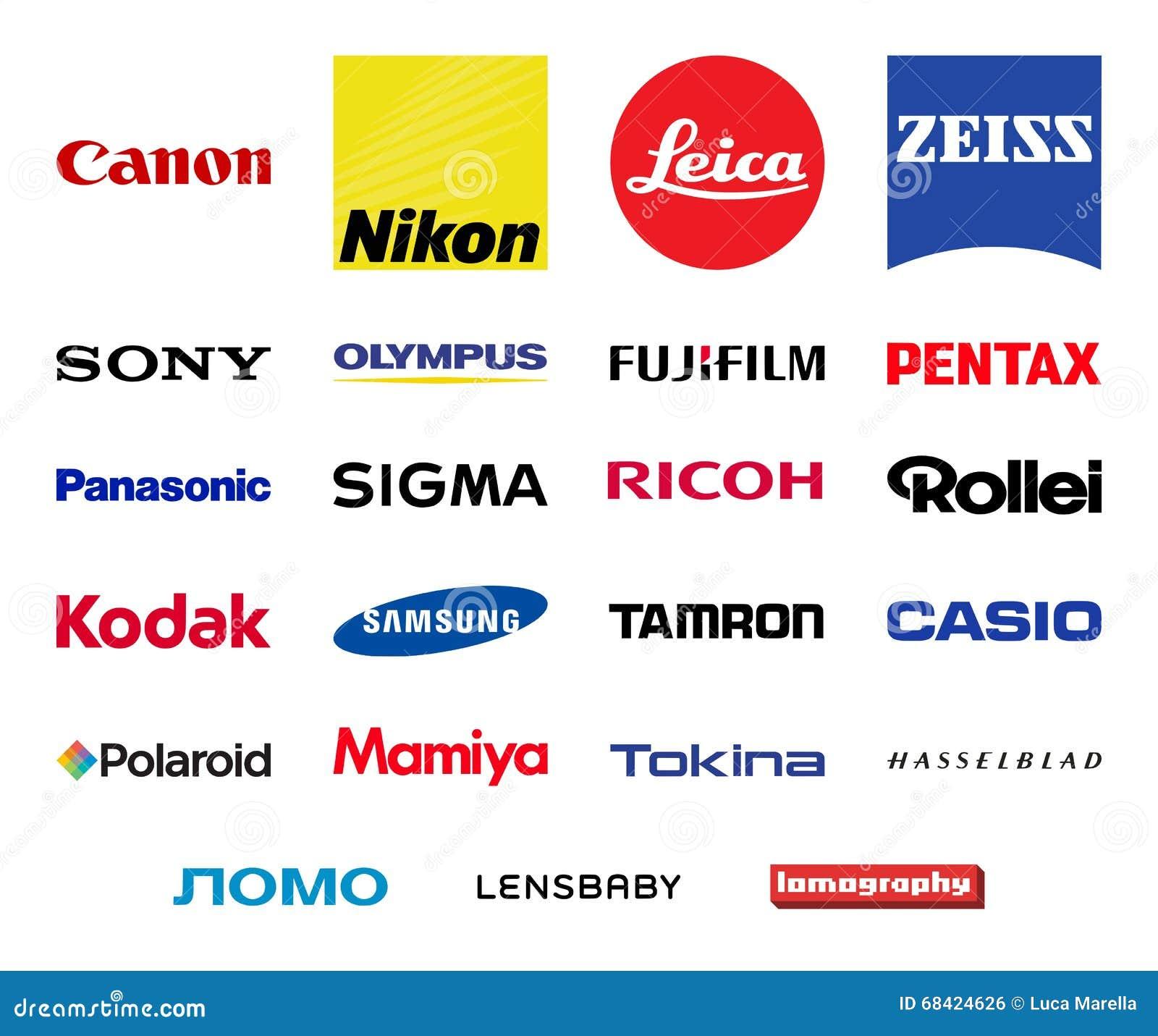 vector photography companies logos set editorial photo