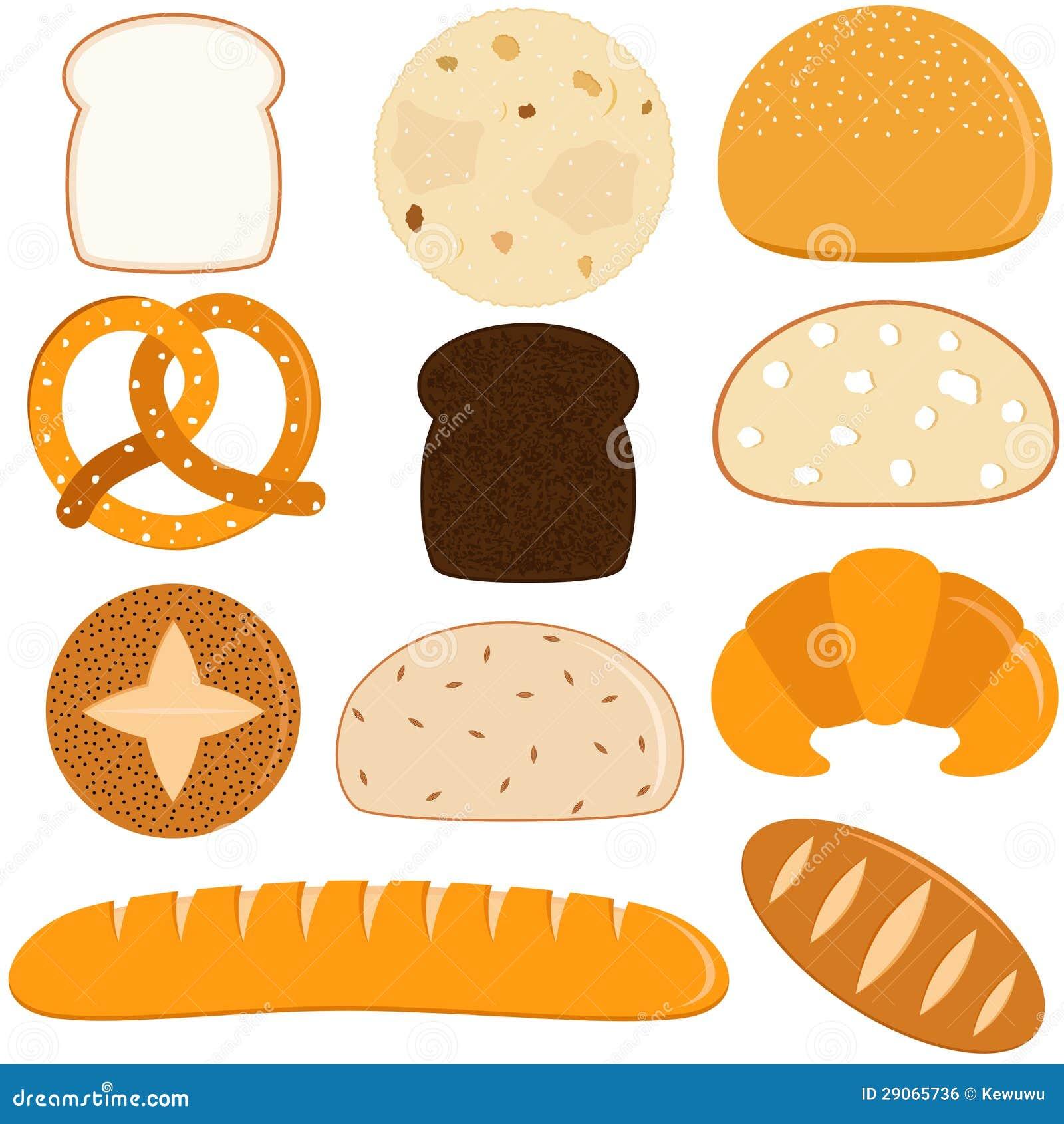 Vector Pictogrammen Brood Stock Illustratie Illustratie