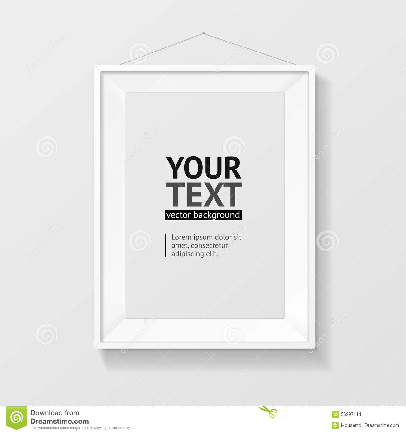 Vector Picture Frame Vector A4 White Stock Vector - Illustration of ...