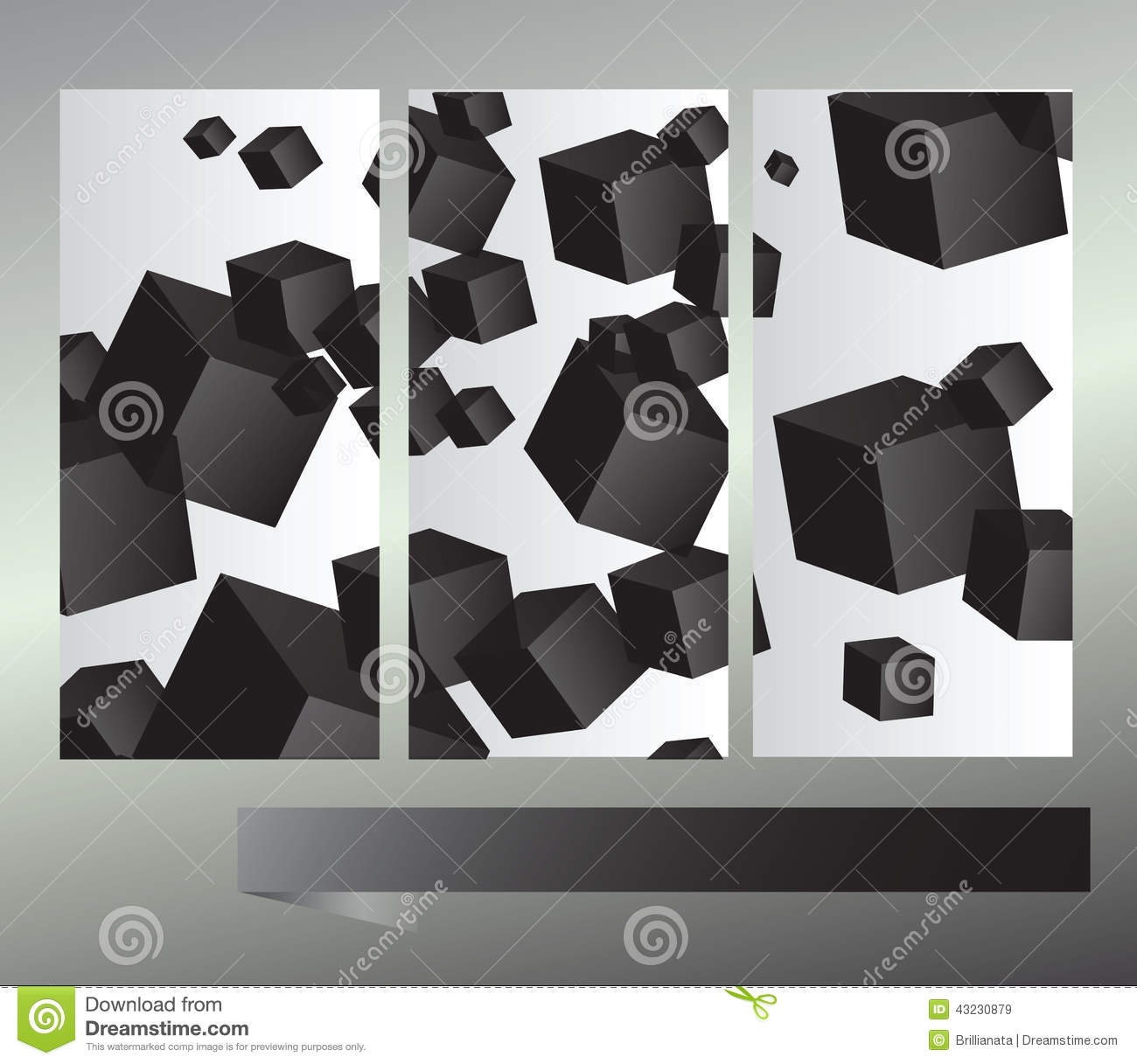 Vector picture with a lot of  squares