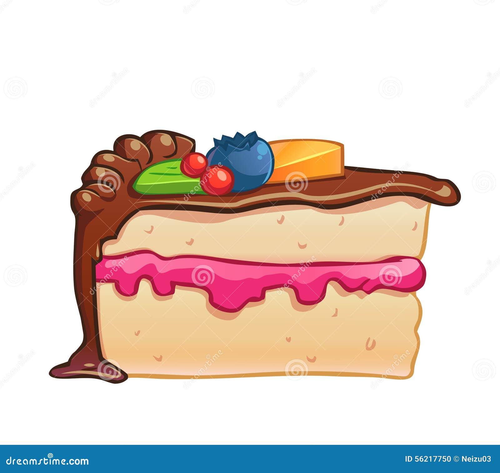 Cute Cake Animation No White Background
