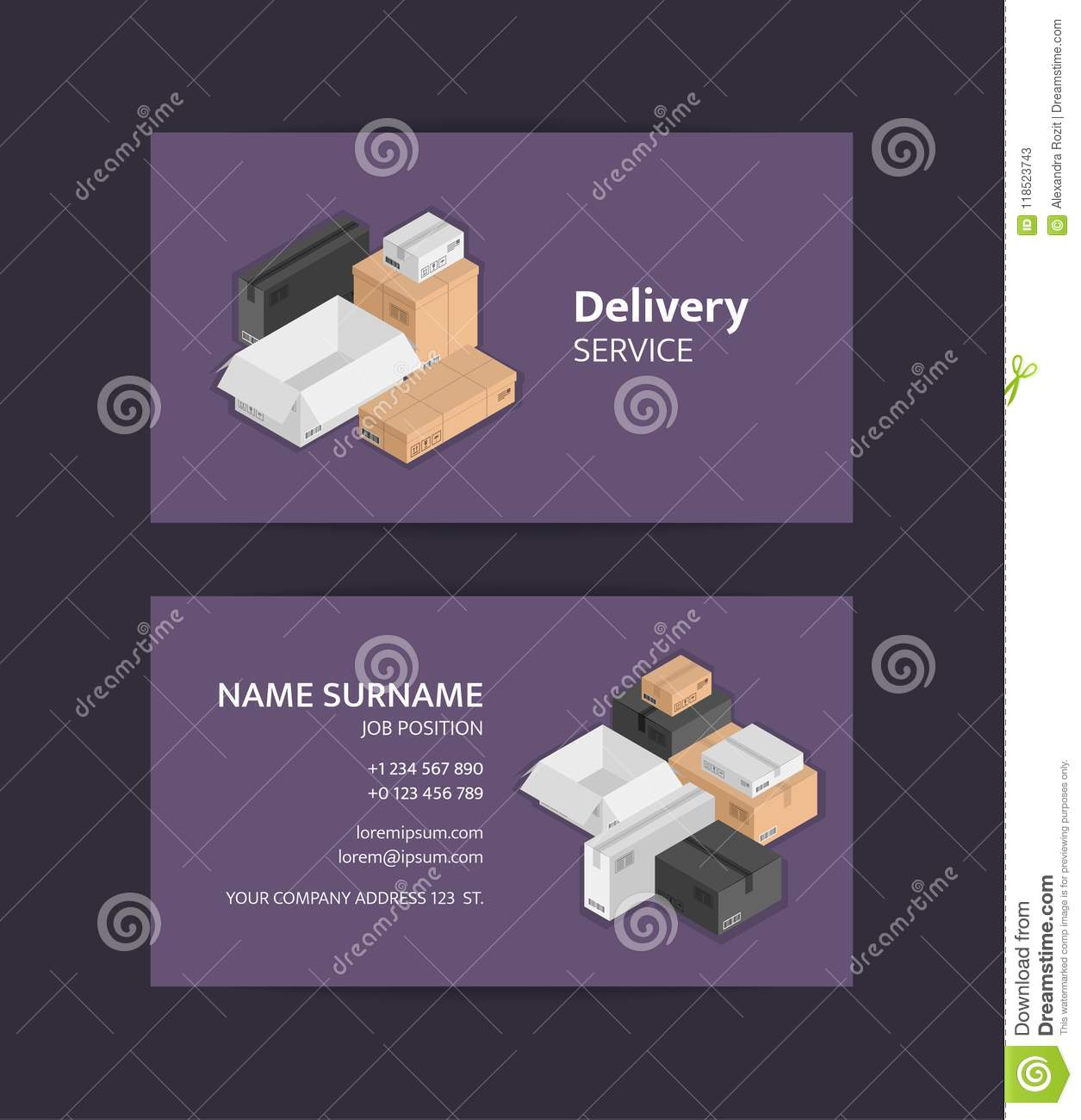 Vector pile of isometric boxes business card template black white download vector pile of isometric boxes business card template black white beige mail reheart Image collections