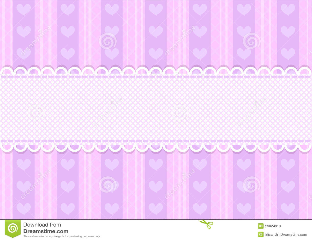Vector pink and purple cute heart background stock photo image