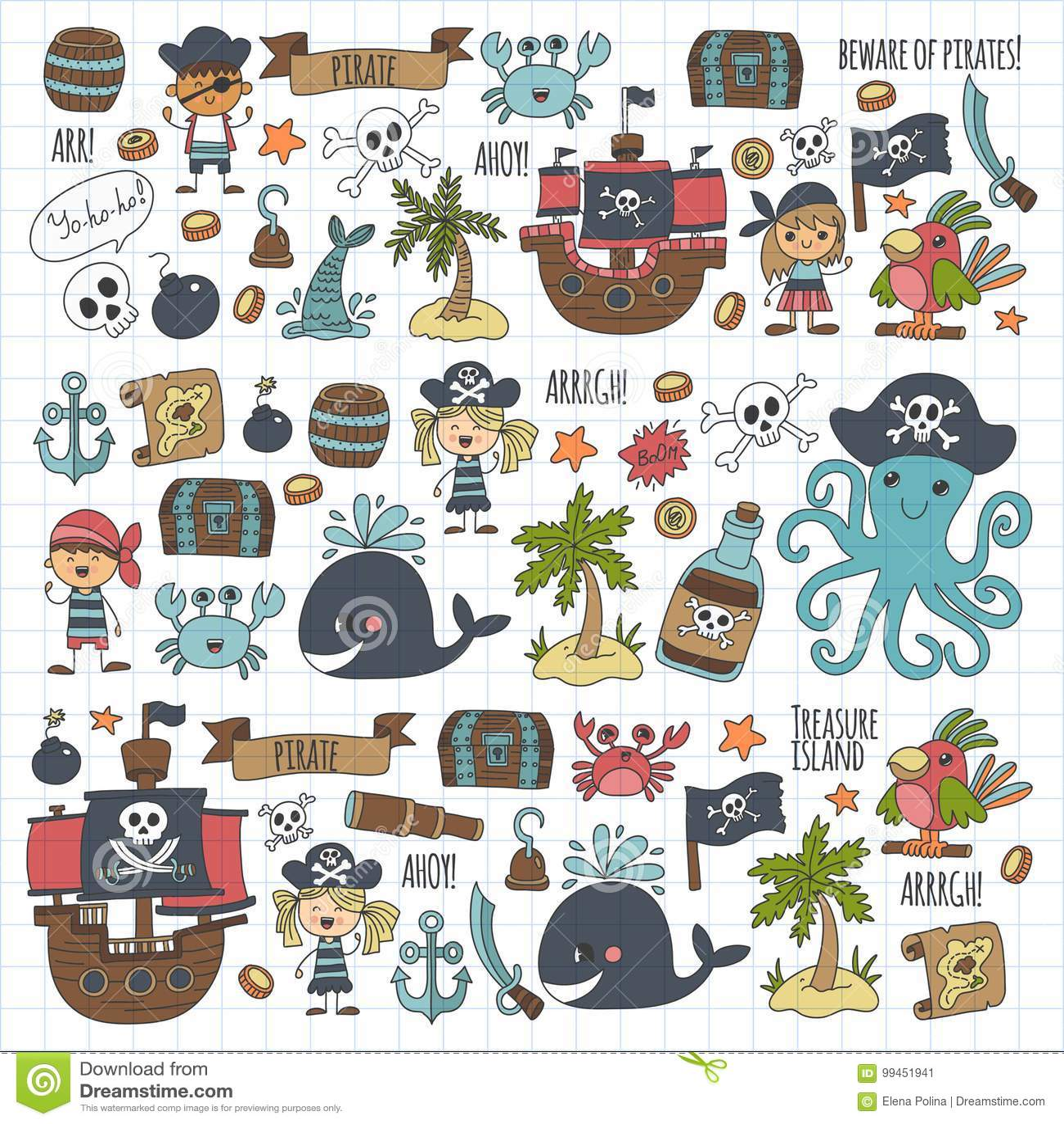 Piraten Schiff Zeichnen