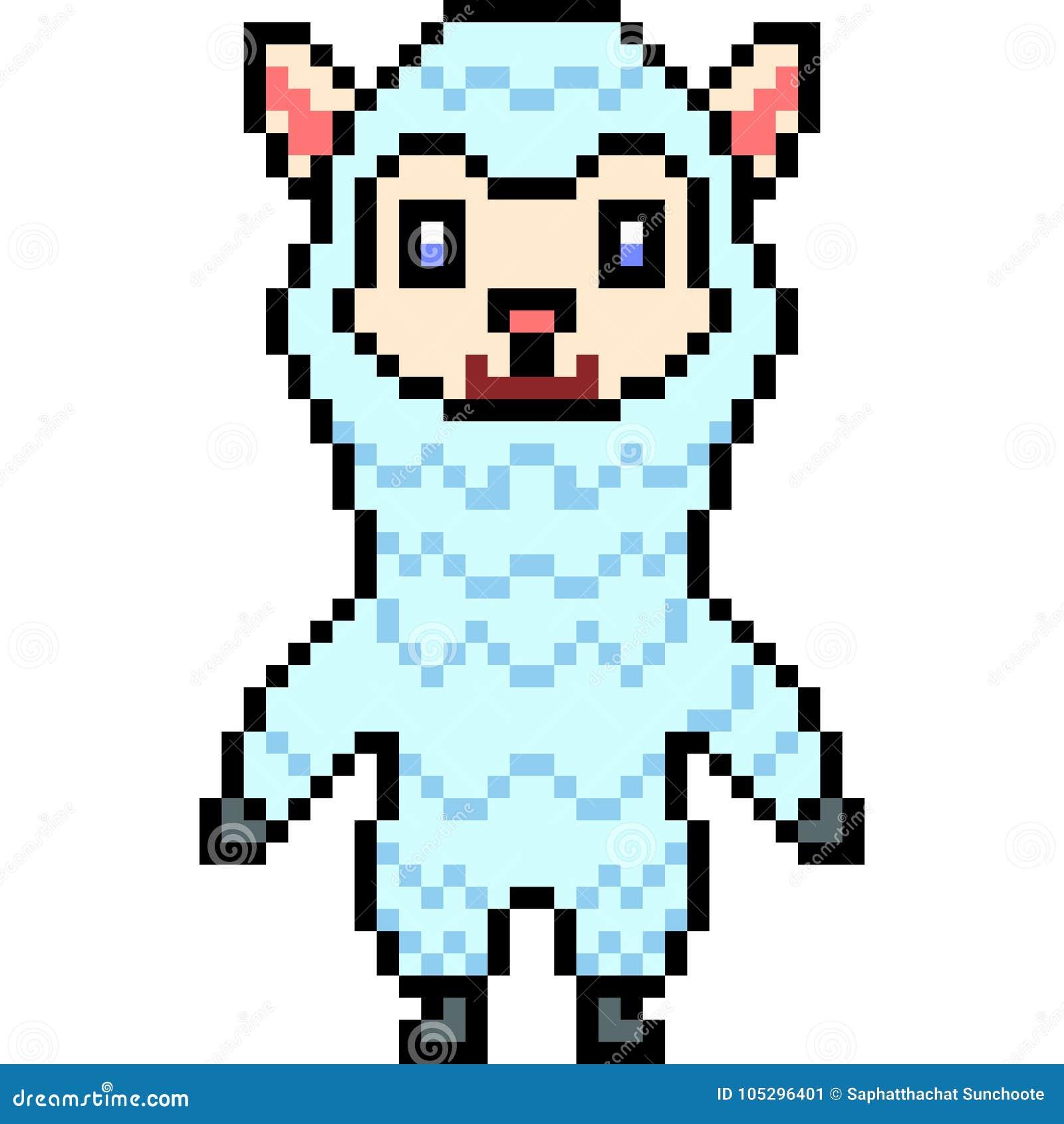 Vector Pixel Art Alpaca Stock Vector Illustration Of Pixel