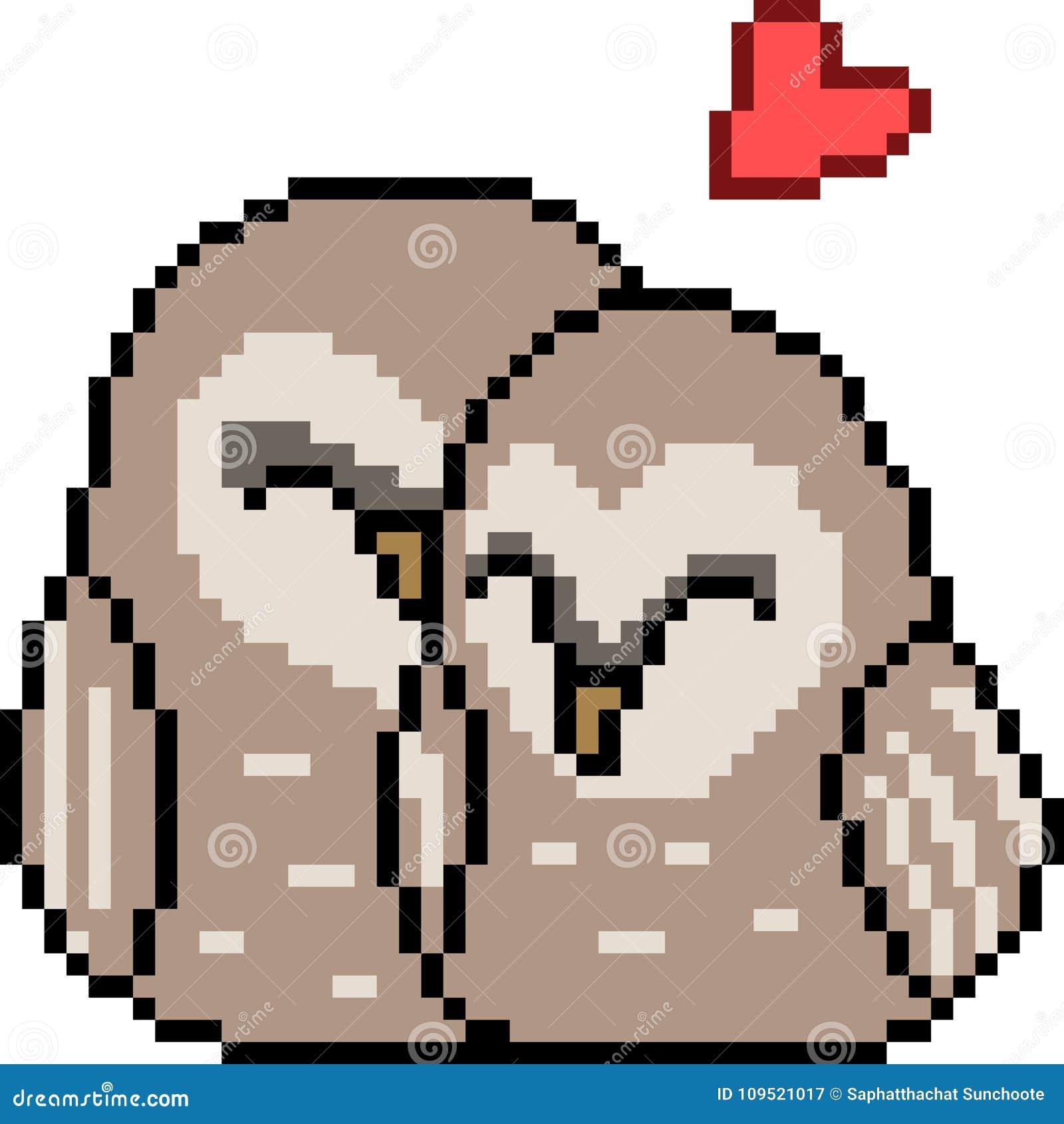 Vector Pixel Art Bird Couple Stock Vector Illustration Of