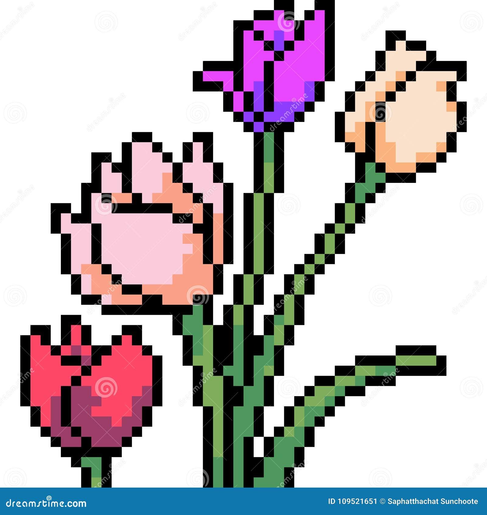 Pixel Art Flower Koolgadgetz