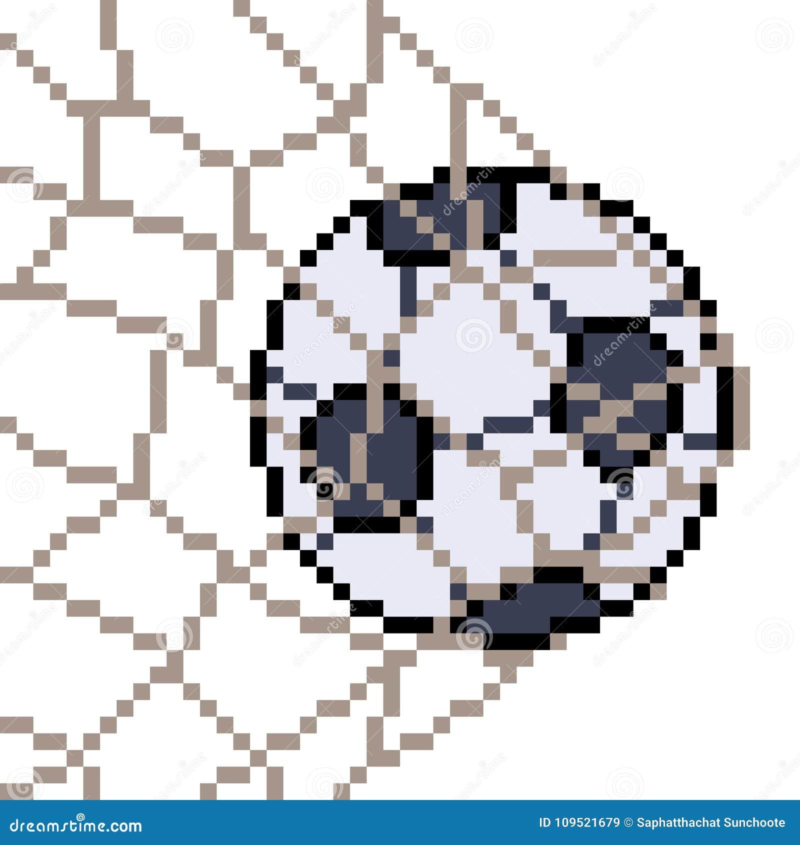 Vector Pixel Art Football Stock Vector Illustration Of
