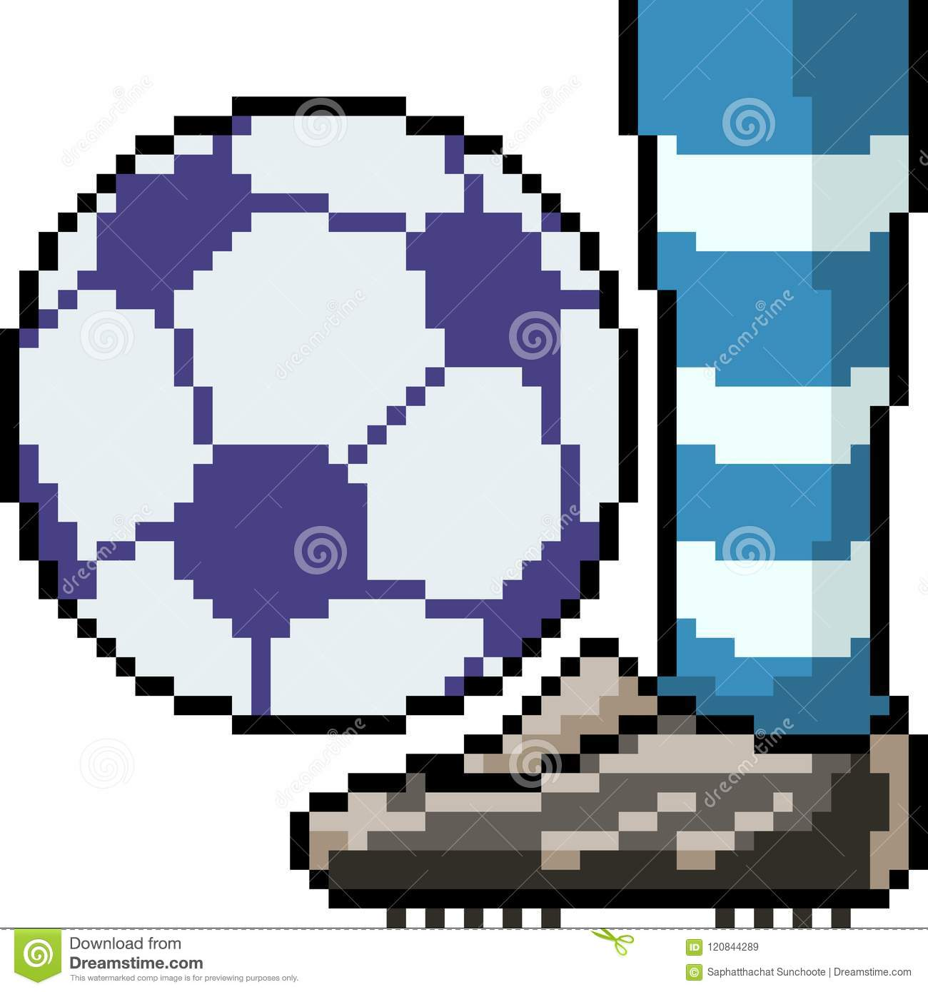 Vector Pixel Art Football Player Leg Stock Vector