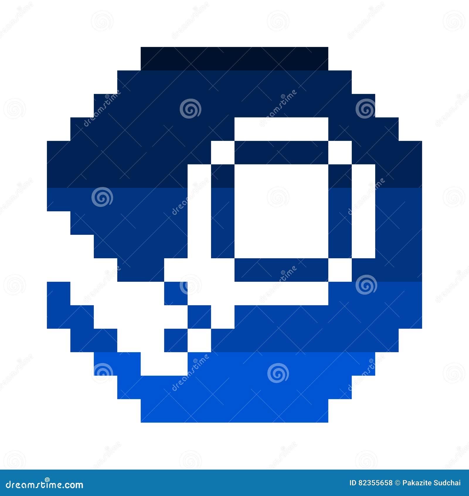 Vector Pixel Art Steam Icon Editorial Stock Photo - Illustration of