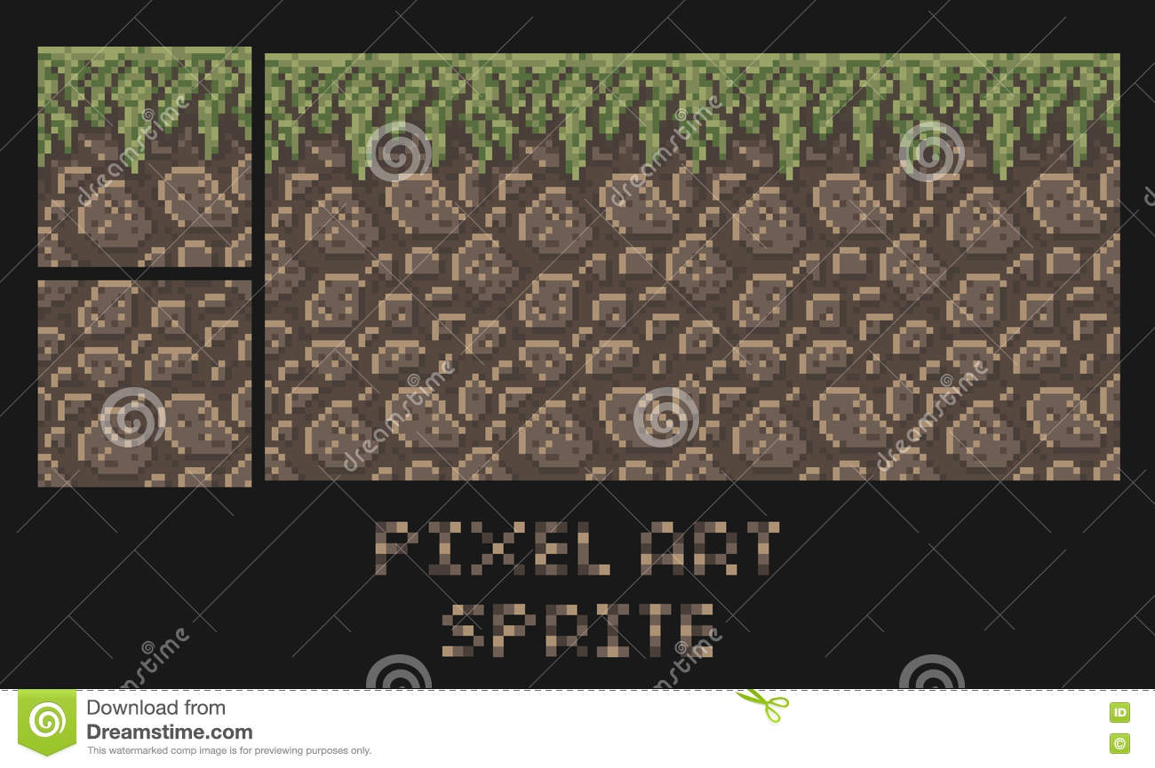 how to draw dirt tile sprite