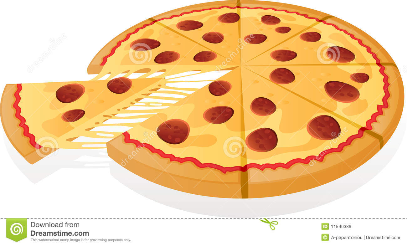 Vector Pizza Royalty Free Stock Image