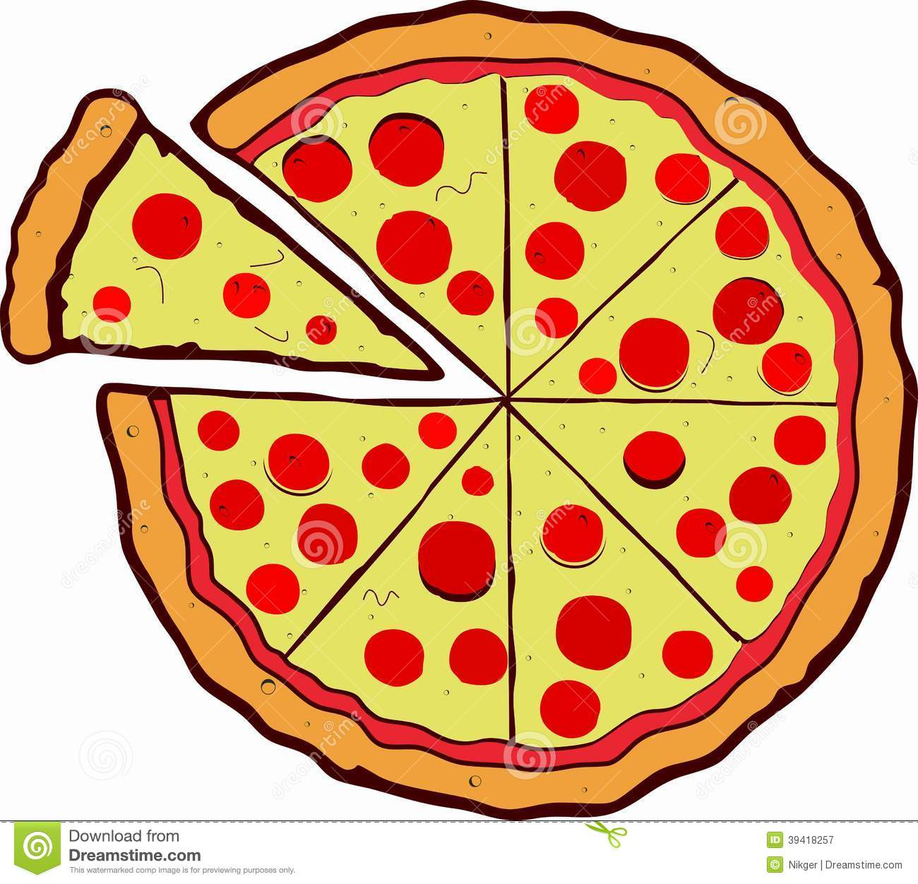 Vector Pizza Stock Illustration - Image: 39418257