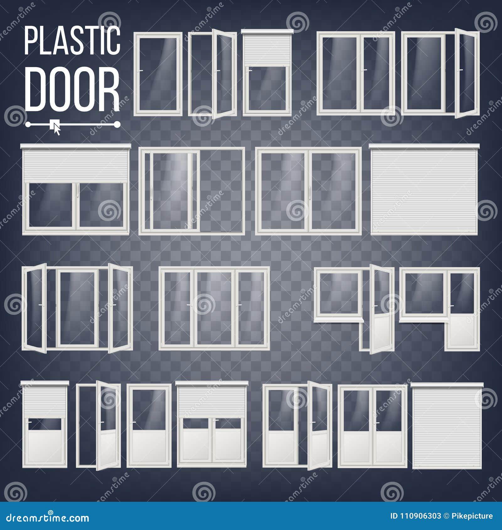 Vector Plástico De La Puerta Marco De Puerta Plástico Ahorro De ...