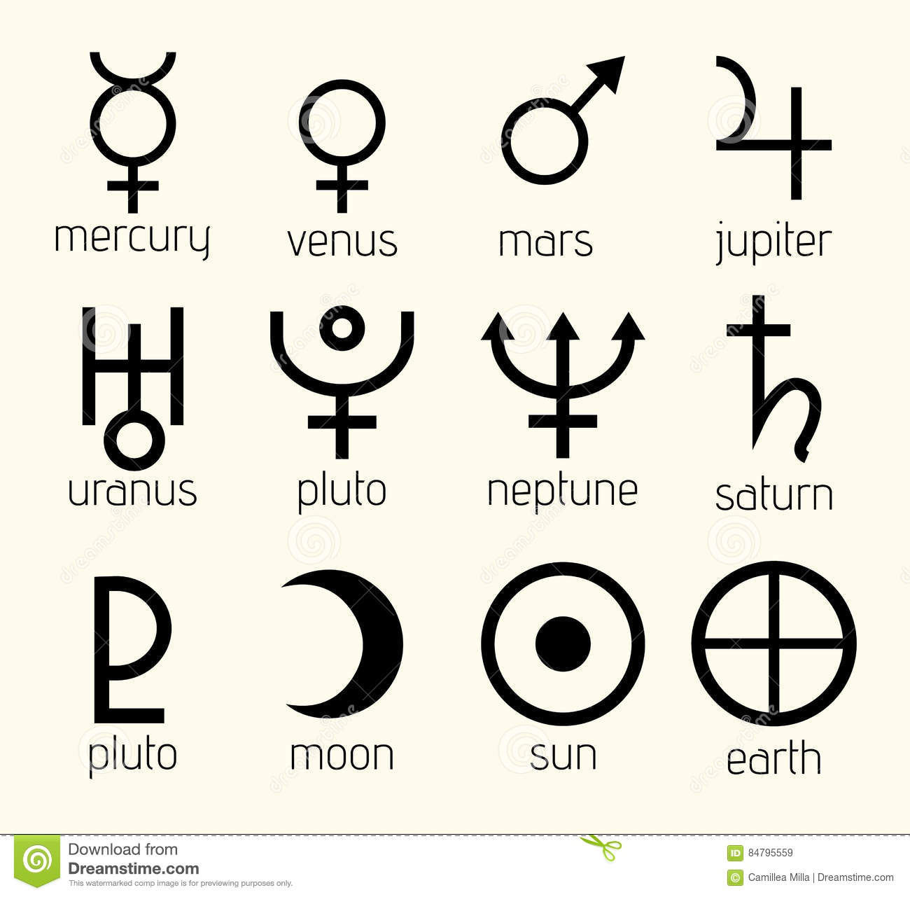 Vector planet astrological astronomical symbols set illustration vector planet astrological astronomical symbols set illustration buycottarizona Image collections