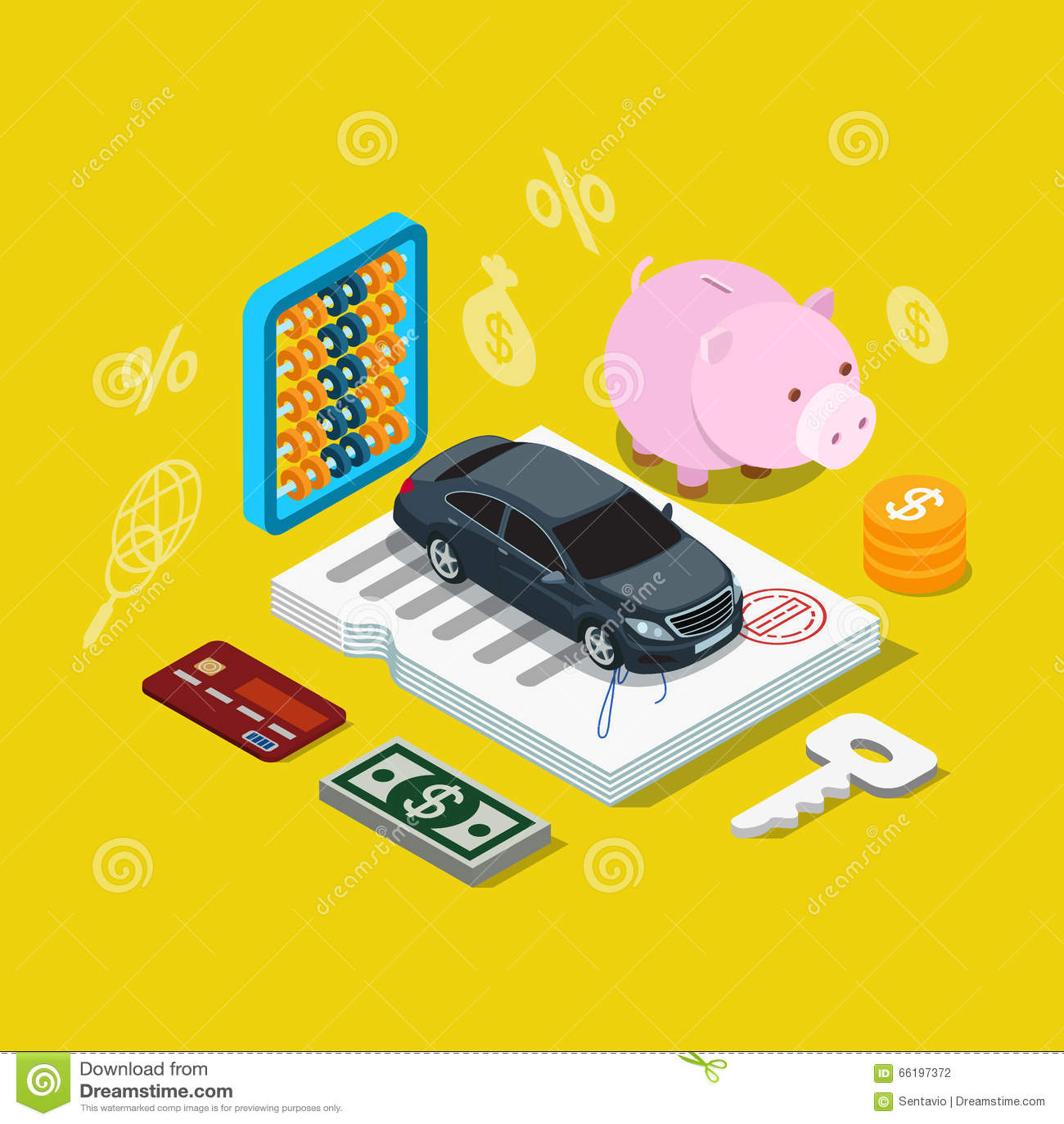 Vector Plano 3d Del Plan De Financiación De Préstamo Del Crédito Del ...
