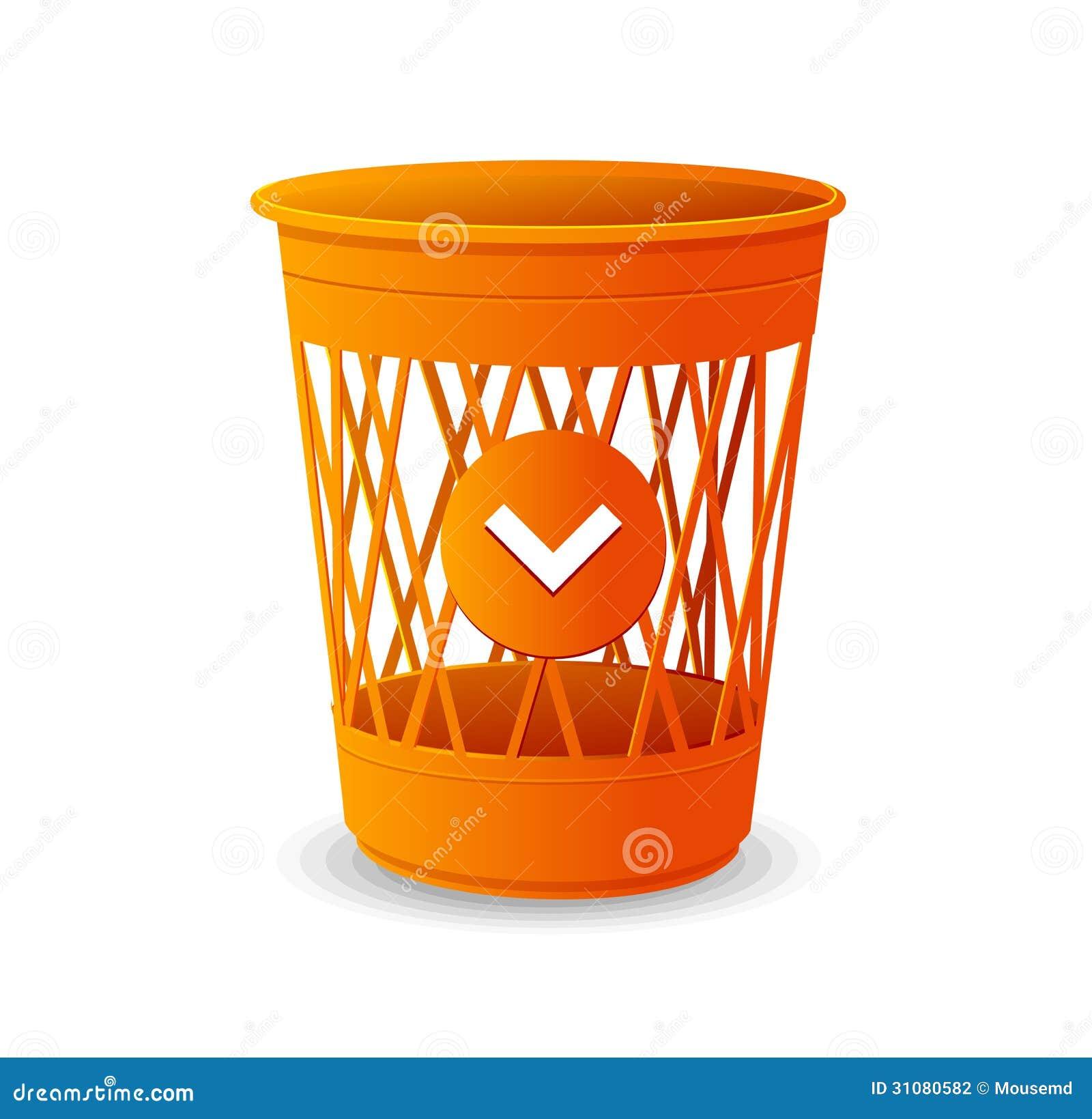 Plastic Vector Bins On White OrangeTrash Stock Basket xBWCeEoQrd