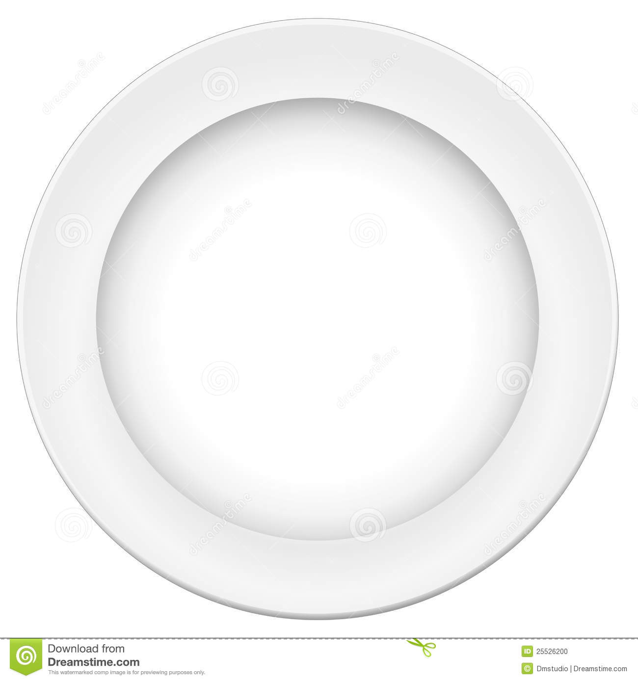 Vector Plate Stock Photo - Image: 25526200