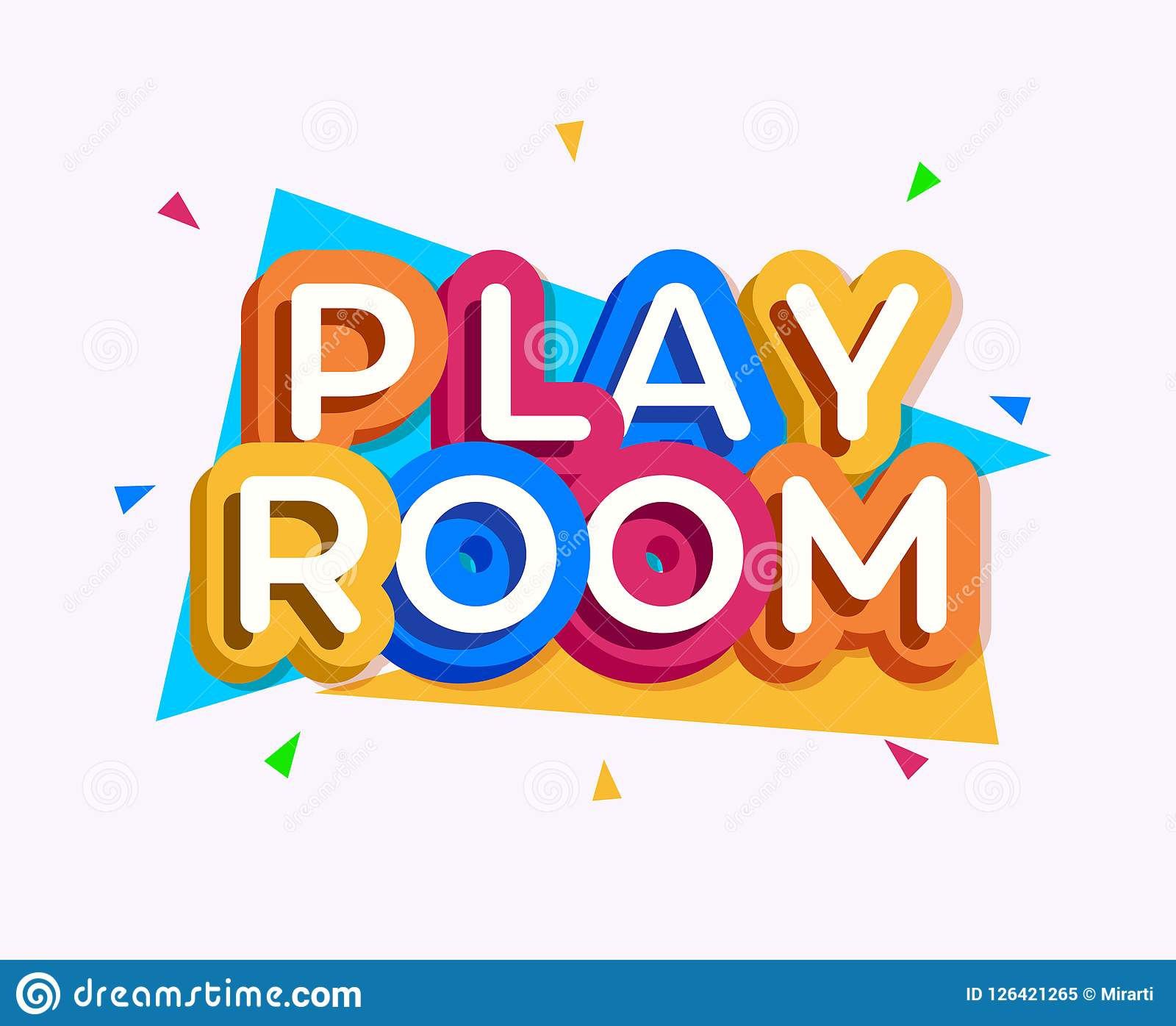 Vector Play Room Logo Colorful Style Stock Vector ...