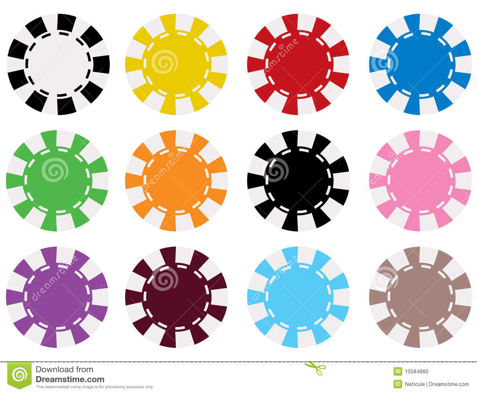 Casino chip colors 15